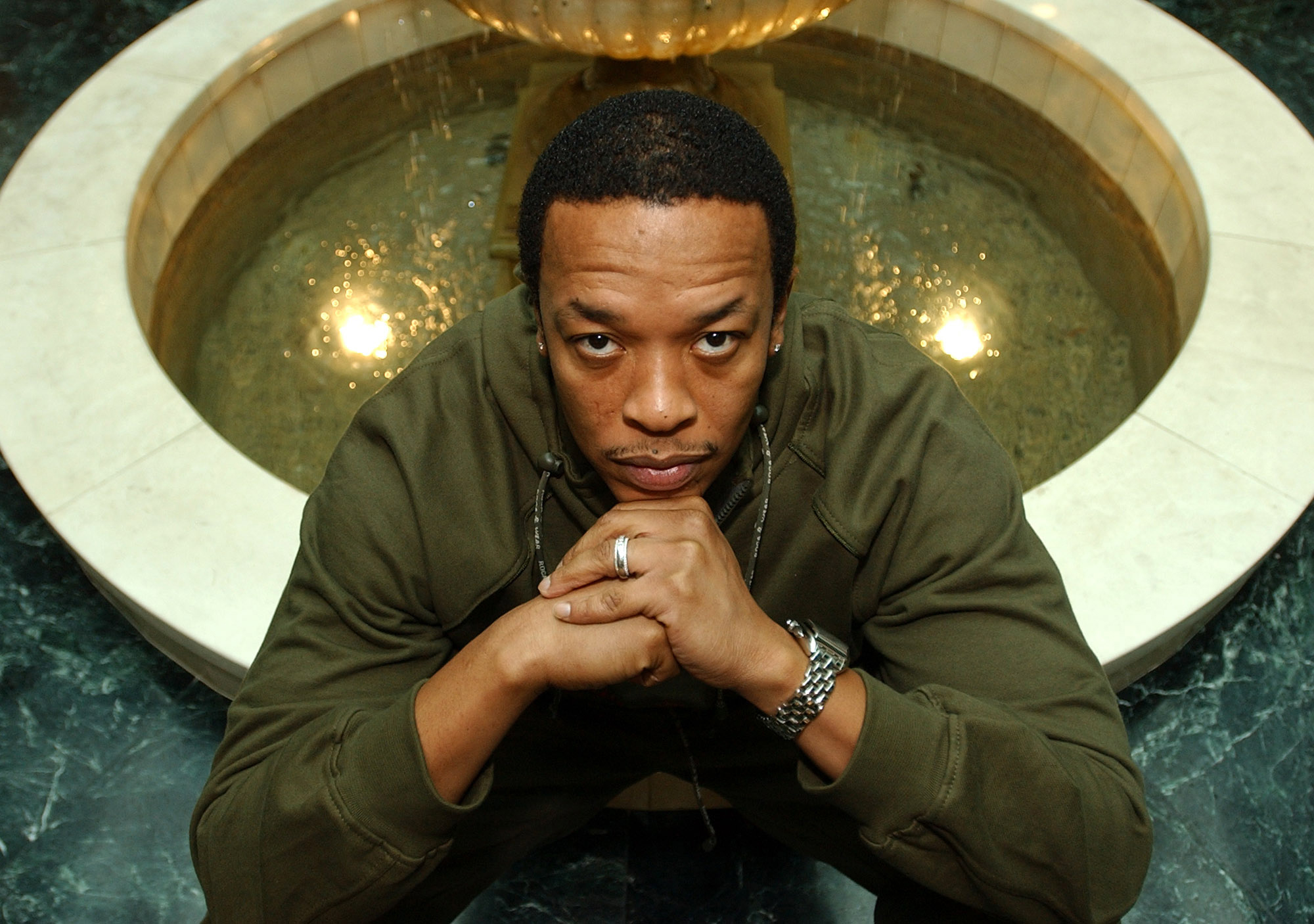 Rap legend Dr. Dre is photographed at Le Meridien Hotel in Beverly Hills, Calif. on Nov. 12, 2001.