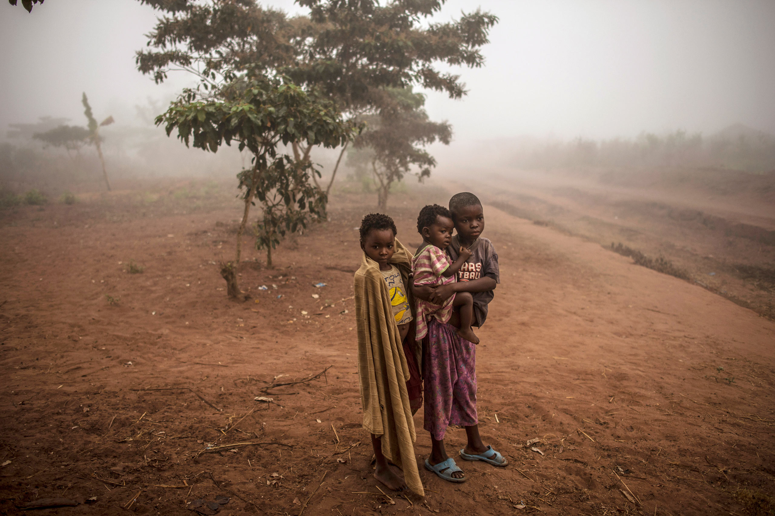 Congolese children who live in poverty in the village of Lungudi, Aug. 7, 2015.