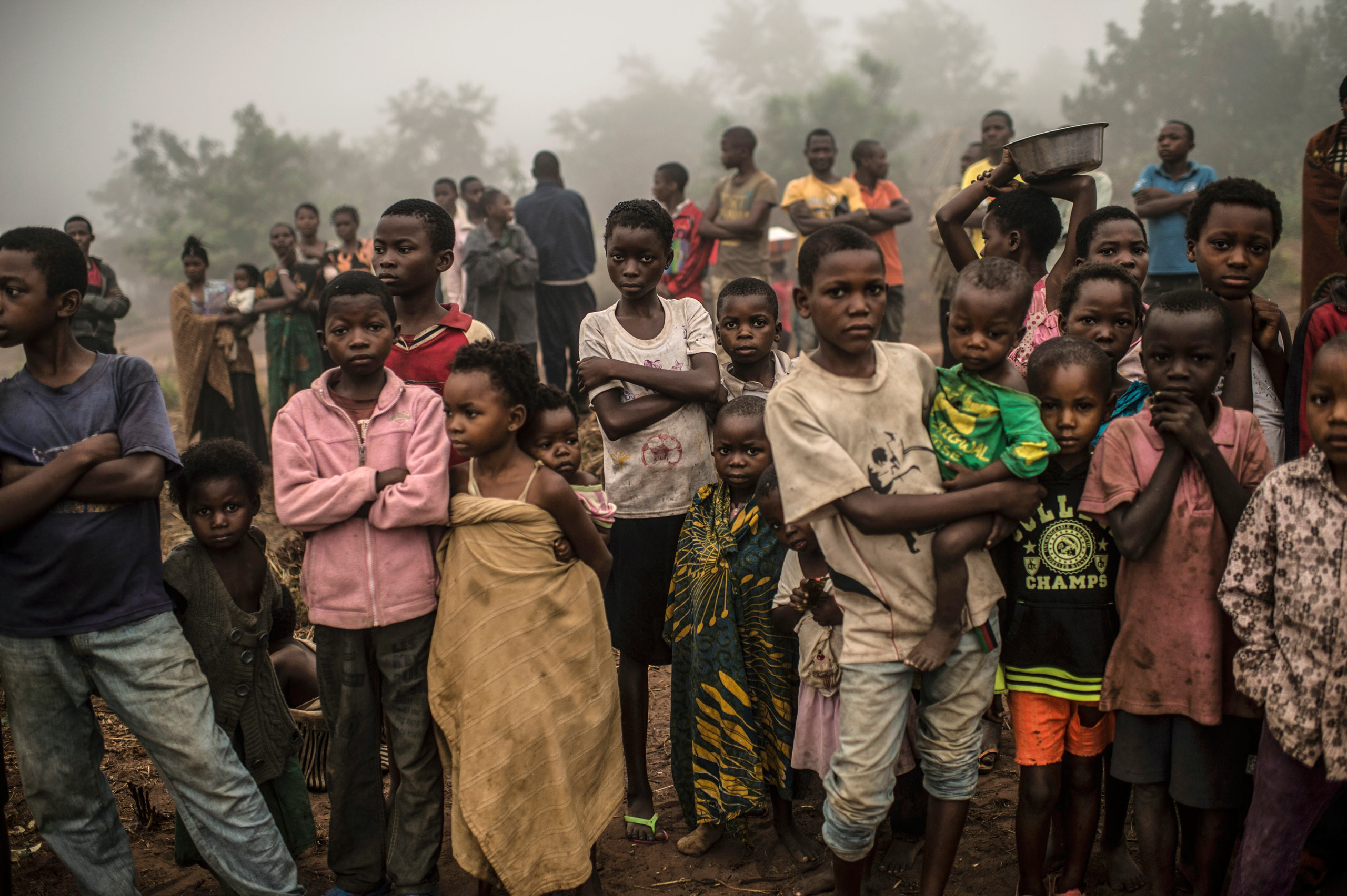 Congolese children in the village of Lungudi, where poverty has forced some school-age children into mining. Aug. 7, 2015.