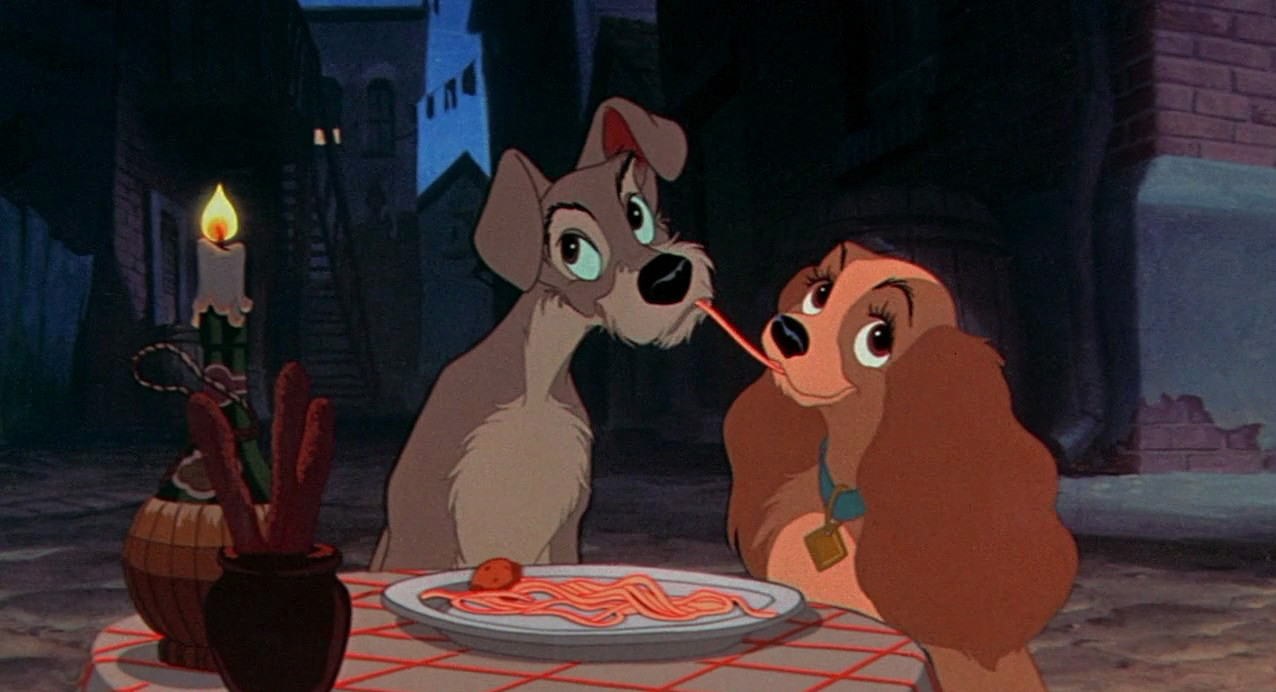 Lady and Tramp in Disney's Lady and the Tramp