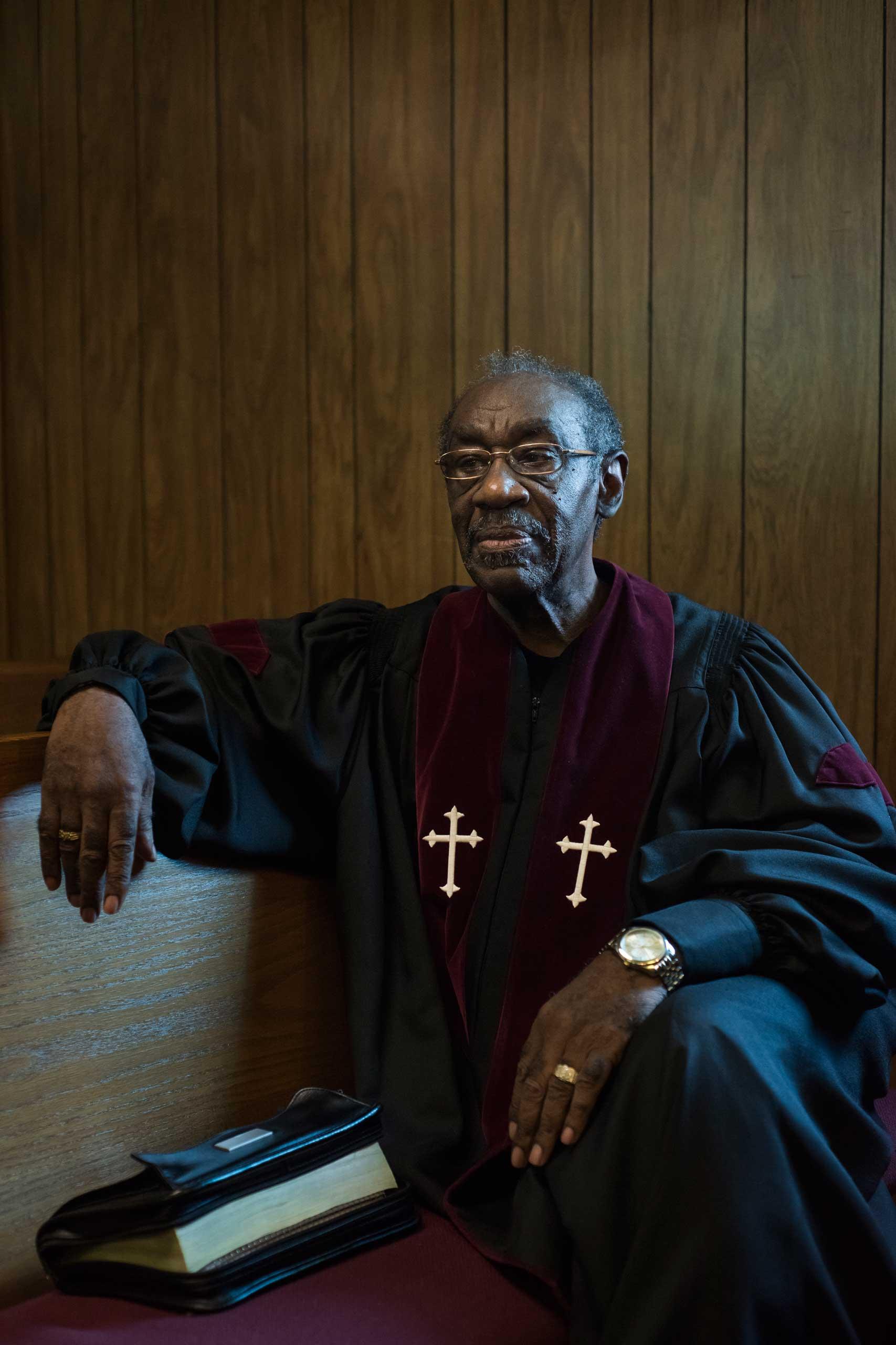 Rev. James Z. Williba, presiding minister at Christ Love Divine Missionary Baptist Church in Ferguson, Mo.