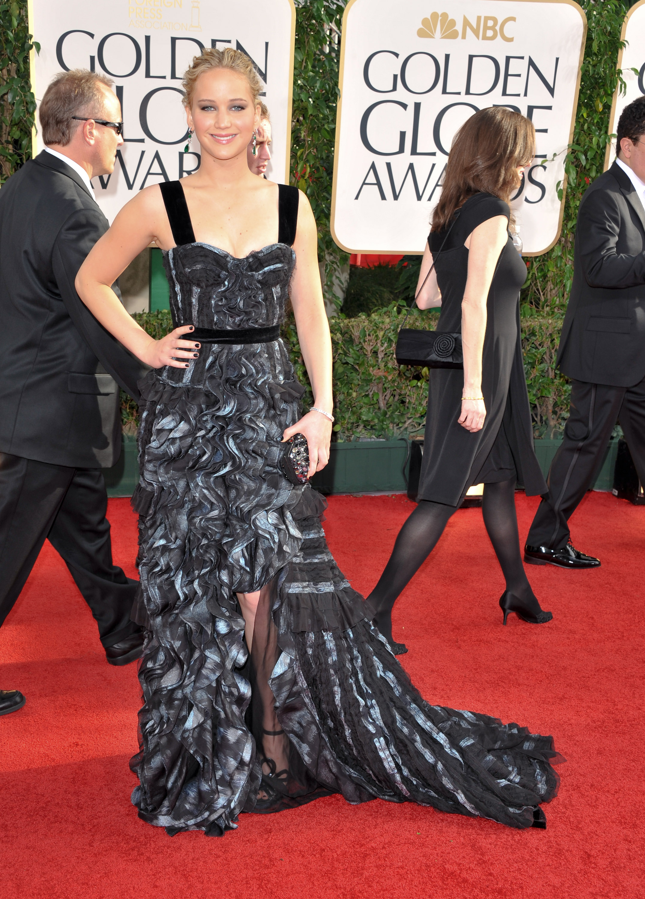 Jennifer Lawrence arrives at the 68th Annual Golden Globe Awards held on Jan. 16, 2011 in Los Angeles.