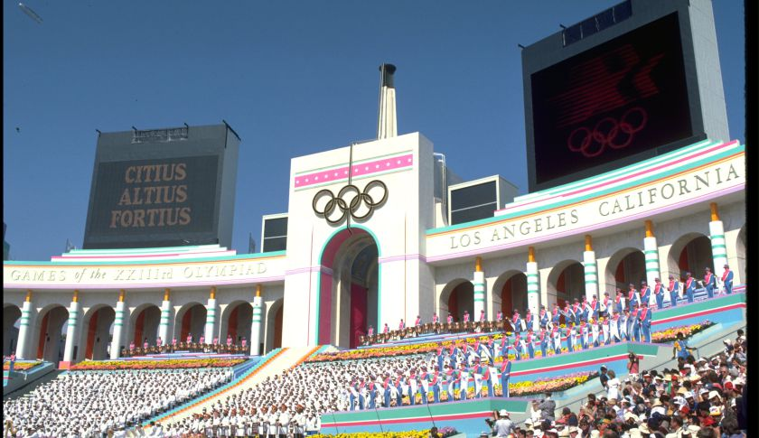The opening ceremony of the 1984 Summer Olympics at the Coliseum in Los Angeles. The city is considering a bid for the 2024 Olympics.