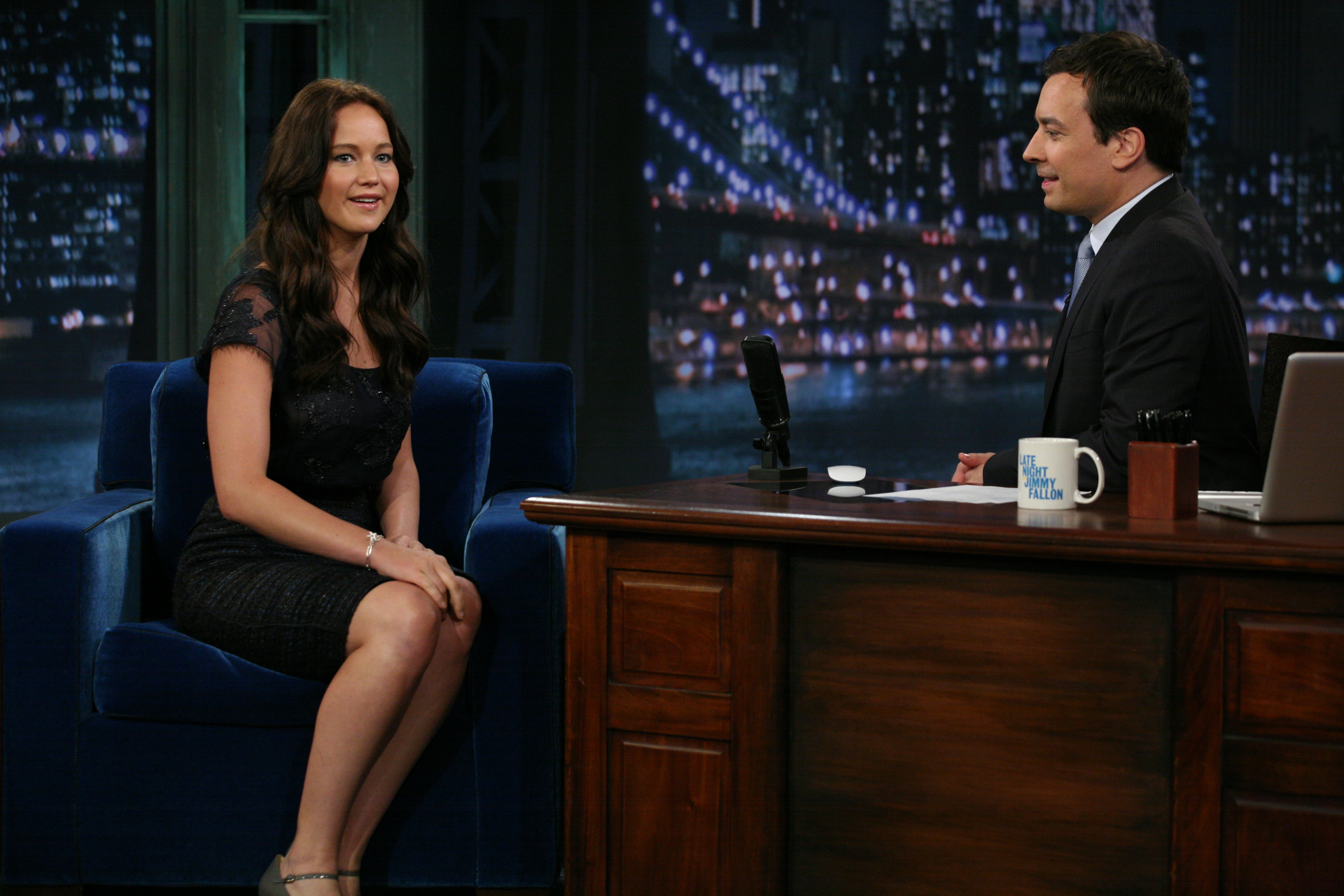 Jennifer Lawrence during an interview with Jimmy Fallon on May 20, 2011.