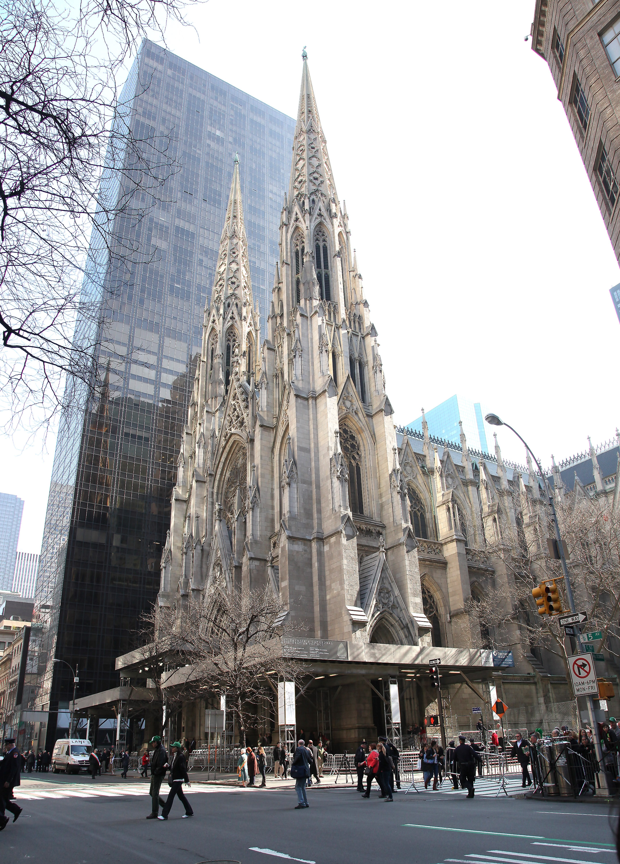 Saint Patrick's Cathedral at the 251st annual St. Patrick's Day parade on the March 17, 2012 in New York, United States.