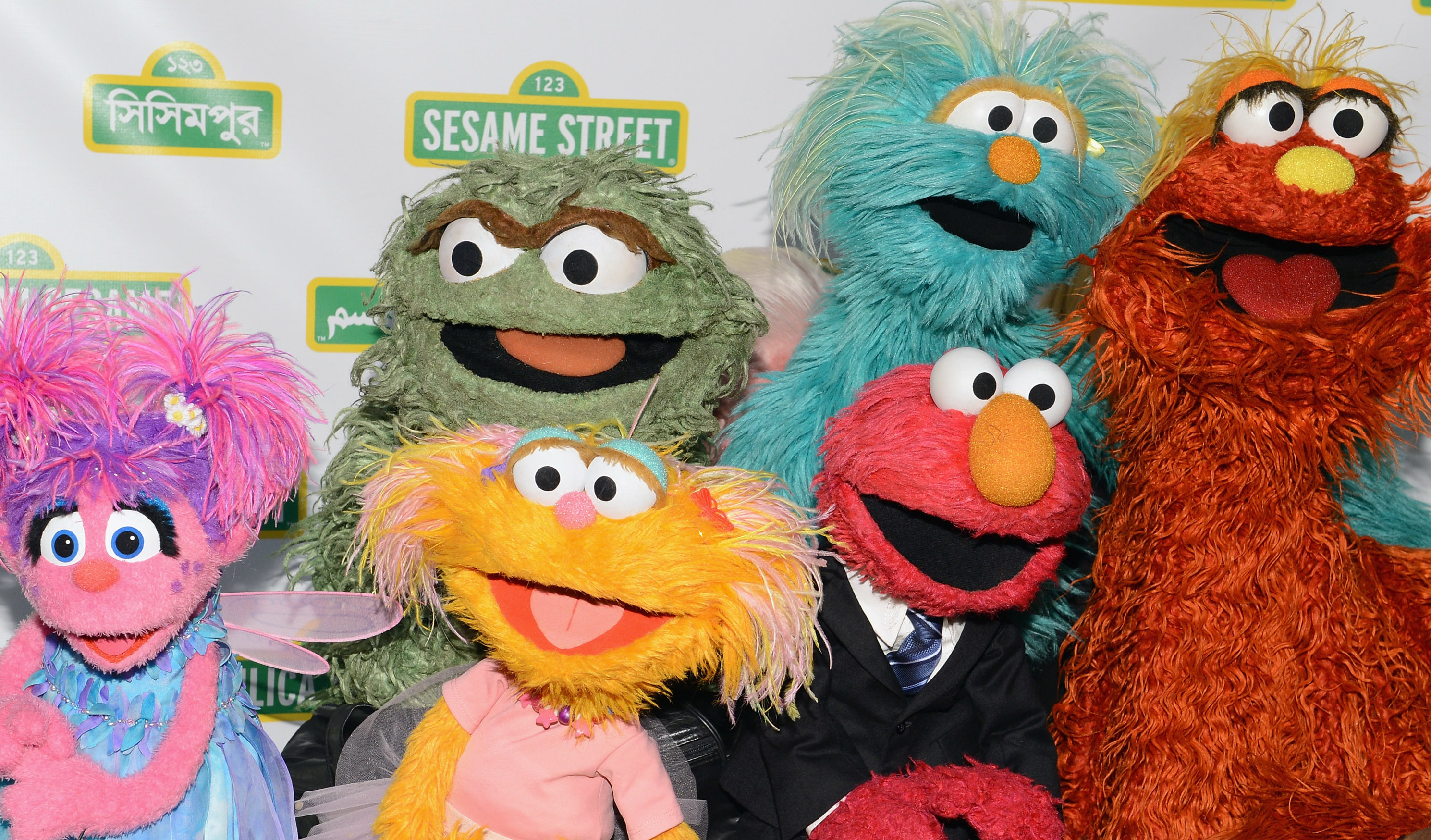 Muppets at a charity event in New York City in 2012.
