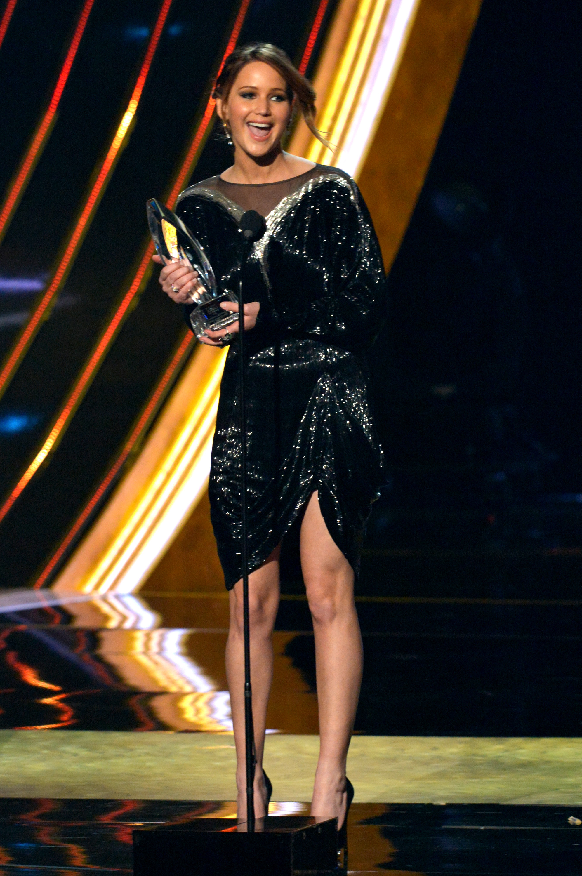 Jennifer Lawrence onstage during the 2013 People's Choice Awards on Jan. 9, 2013 in Los Angeles.
