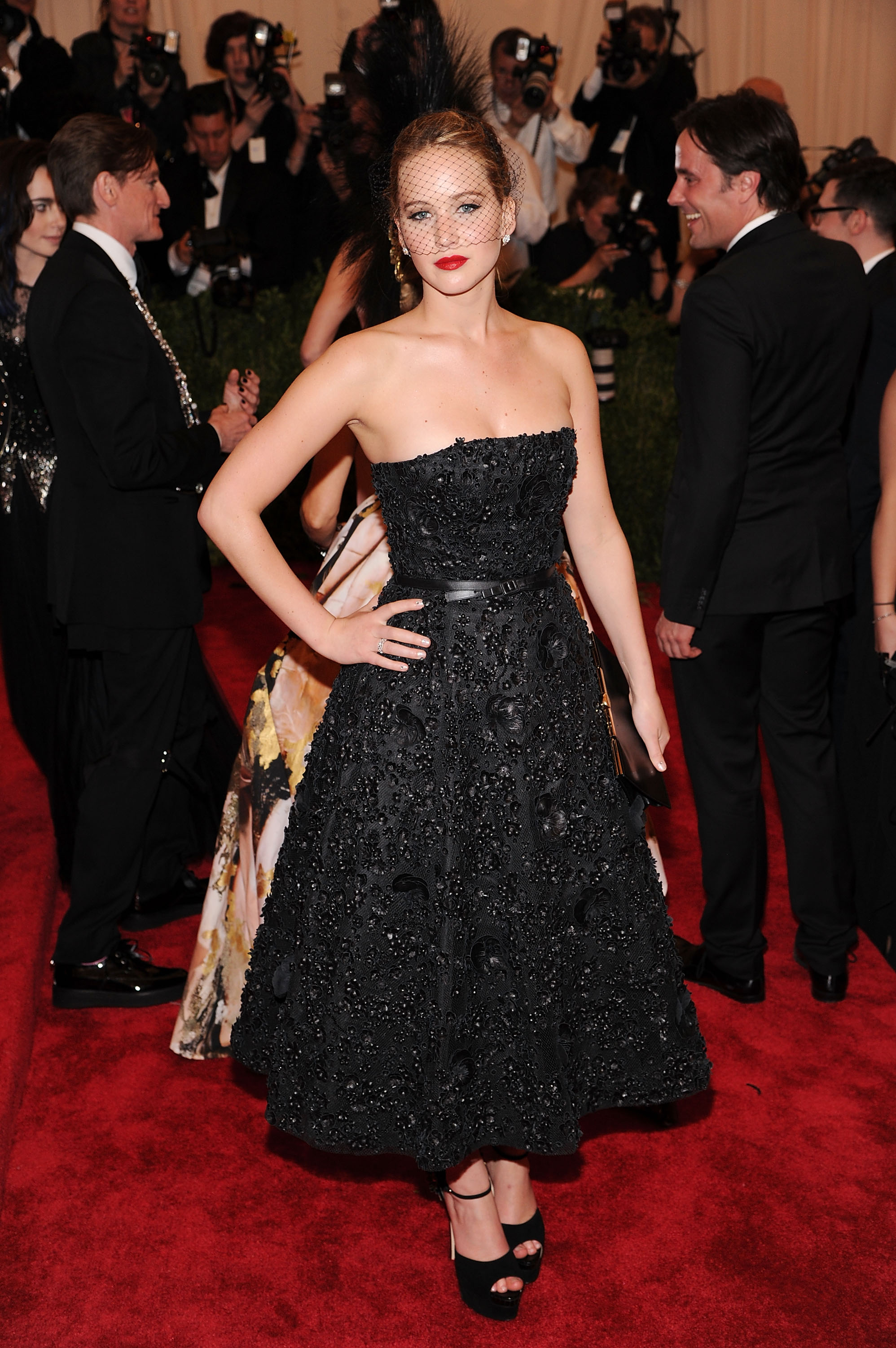 Jennifer Lawrence attends the Costume Institute Gala for the PUNK: Chaos to Couture exhibition at the Metropolitan Museum of Art on May 6, 2013 in New York City.