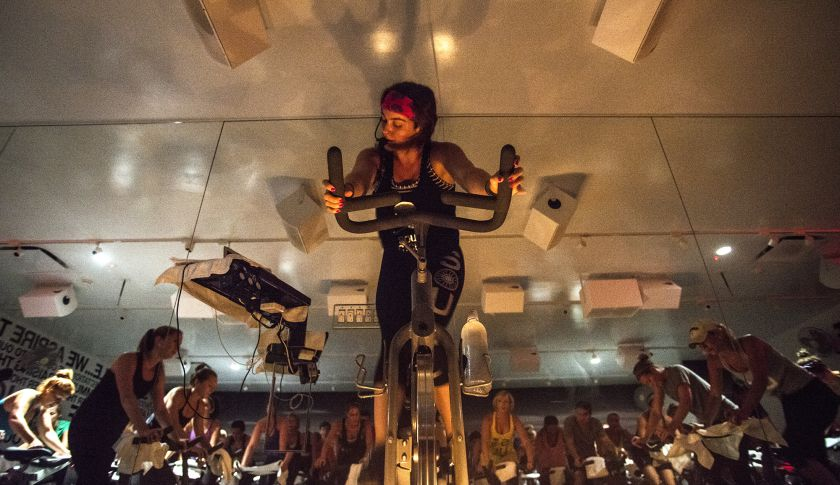 A SoulCycle class.