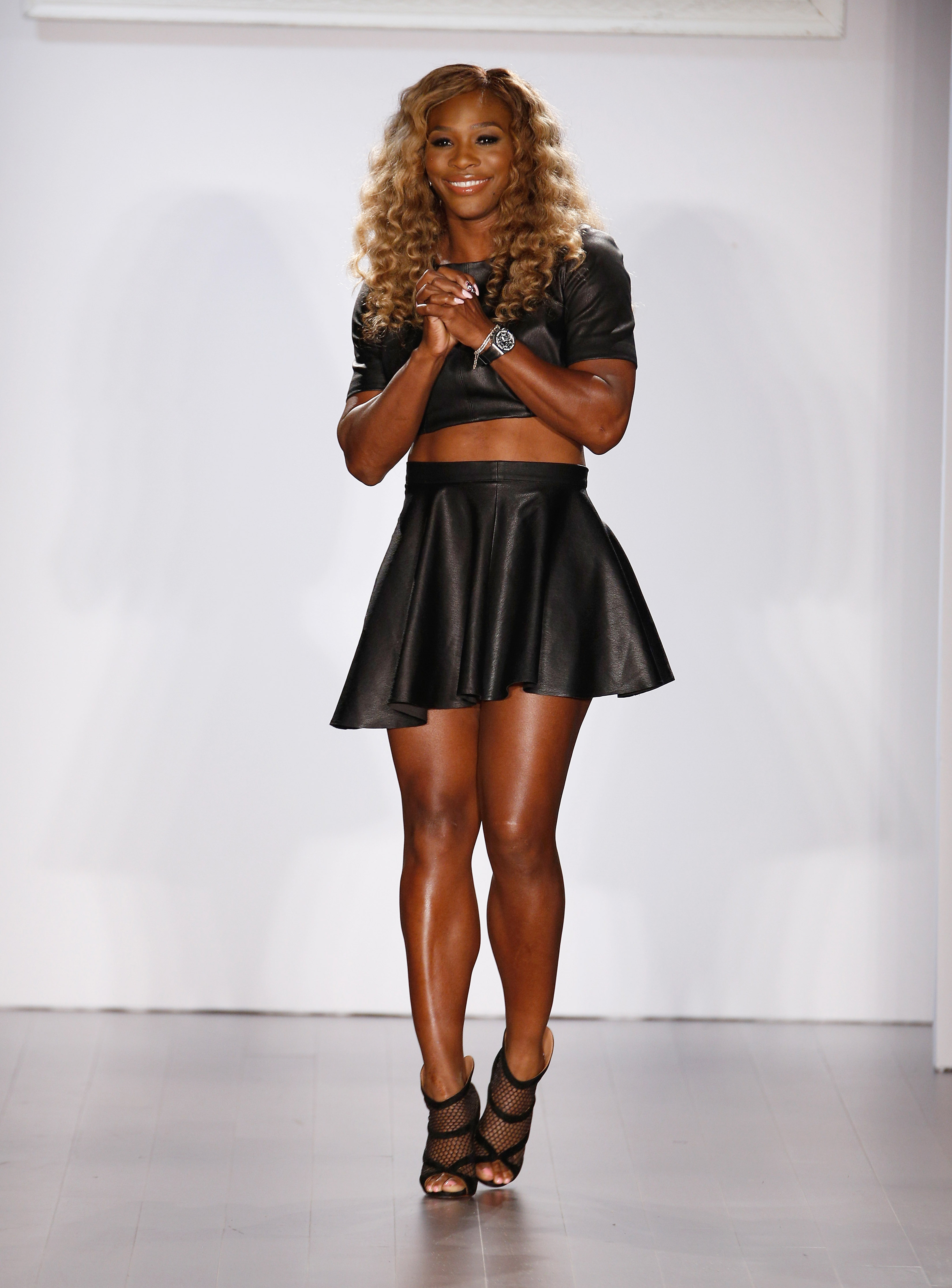 Serena Williams walks the runway at the Serena Williams Signature Statement Collection show during STYLE360 on September 9, 2014 in New York City.