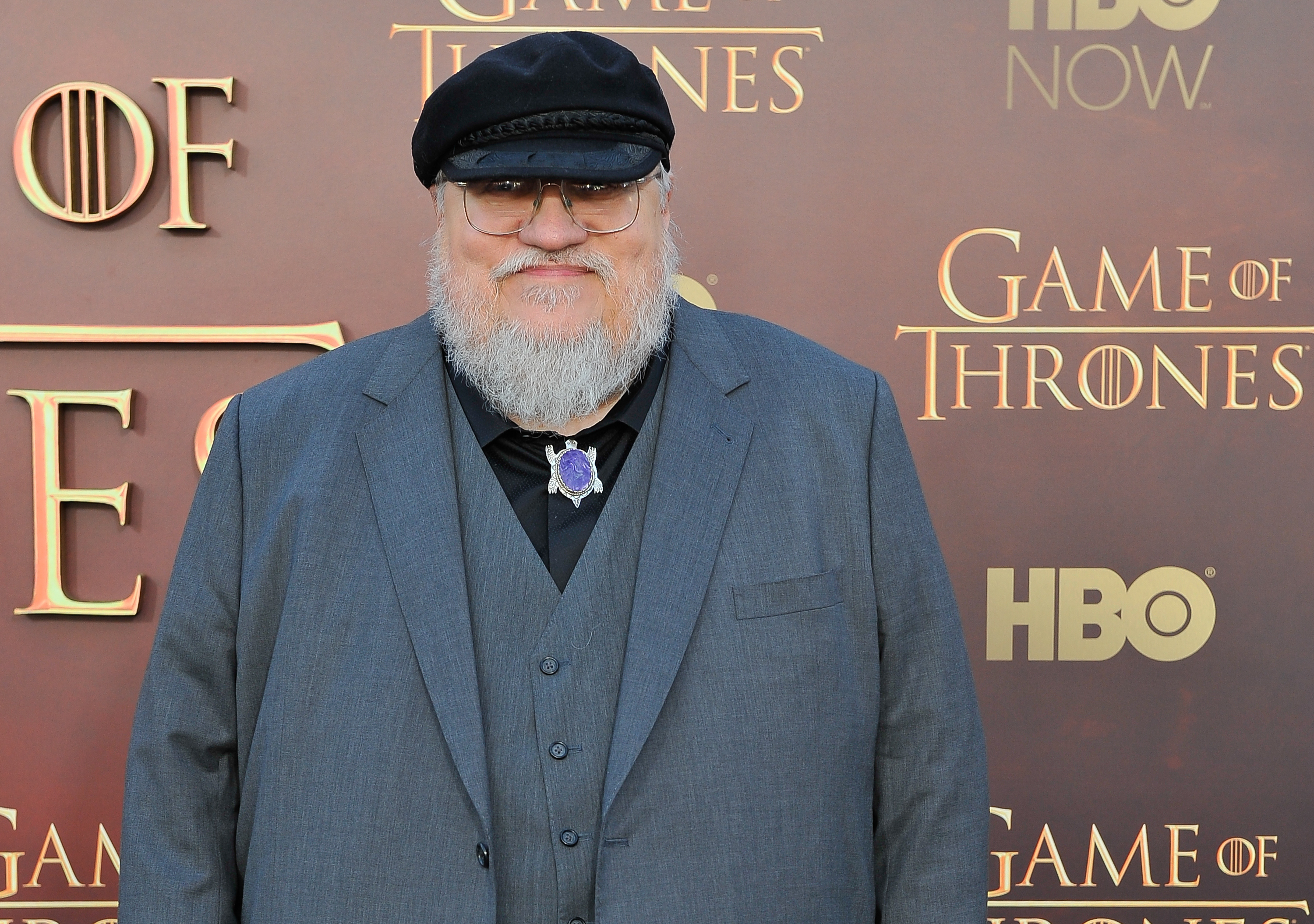 George R.R. Martin Writer/Co-Executive Producer attends HBO's  Game Of Thrones  Season 5 San Francisco Premiere at San Francisco Opera House on March 23, 2015 in San Francisco.