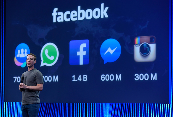 Mark Zuckerberg speaks during the Facebook F8 Developers Conference  on March 25, 2015 in San Francisco.