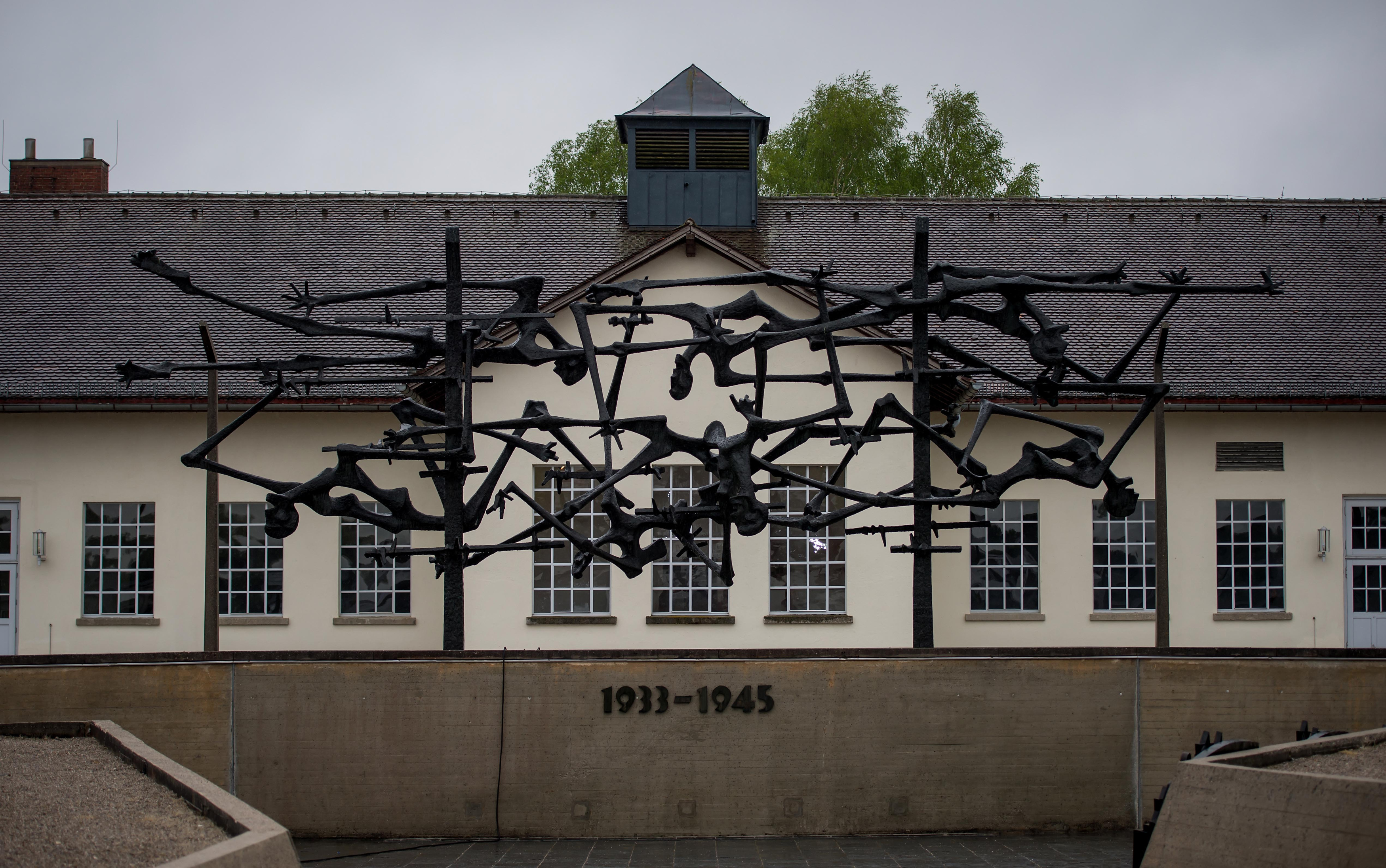 The central memorial of the former Dachau concentration camp site, seen on May 1, 2015 in Dachau, Germany.