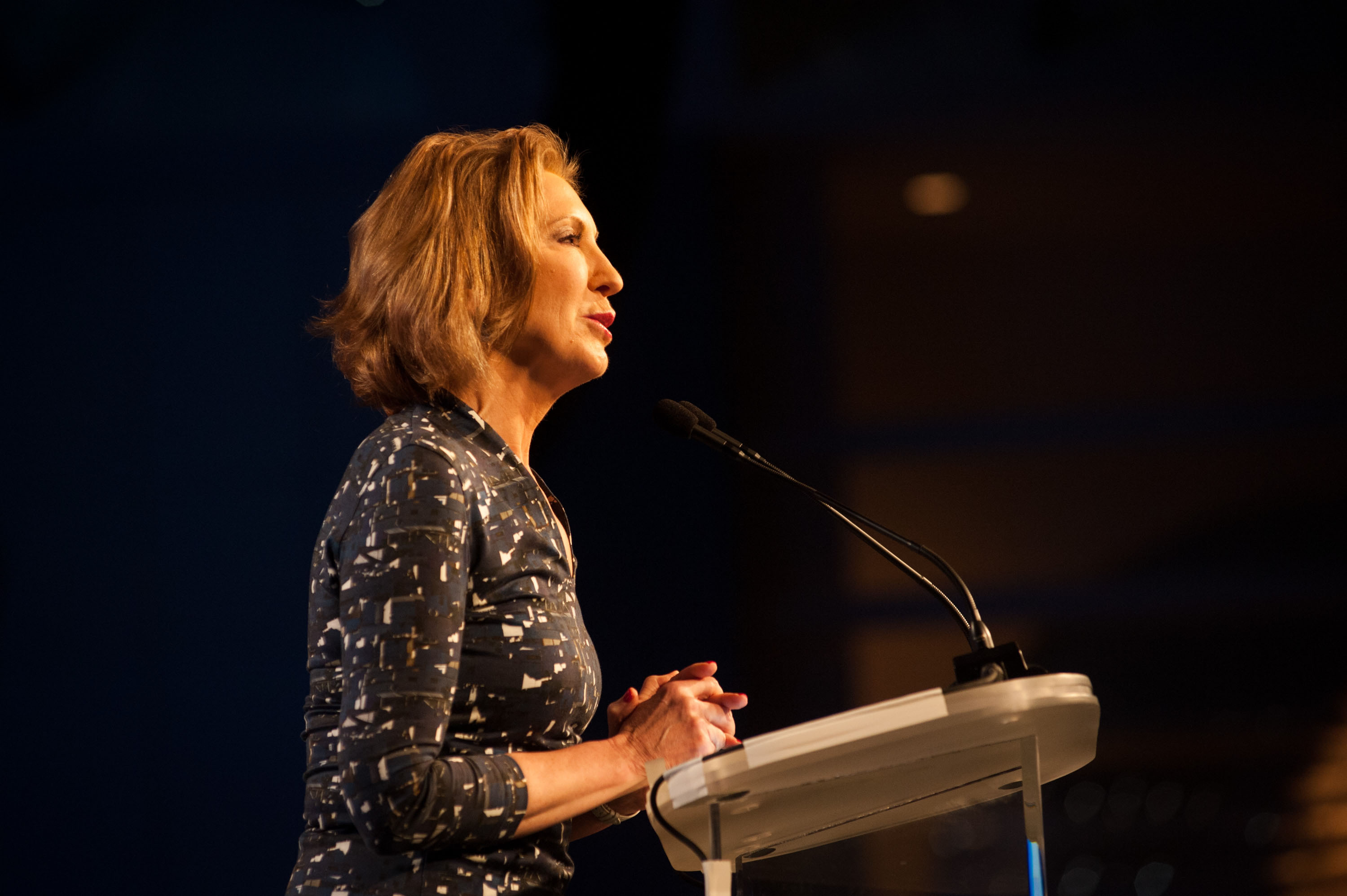 Carly Fiorina speaks during the Western Conservative Summit at the Colorado Convention Center on June 27, 2015 in Denver, Colorado.