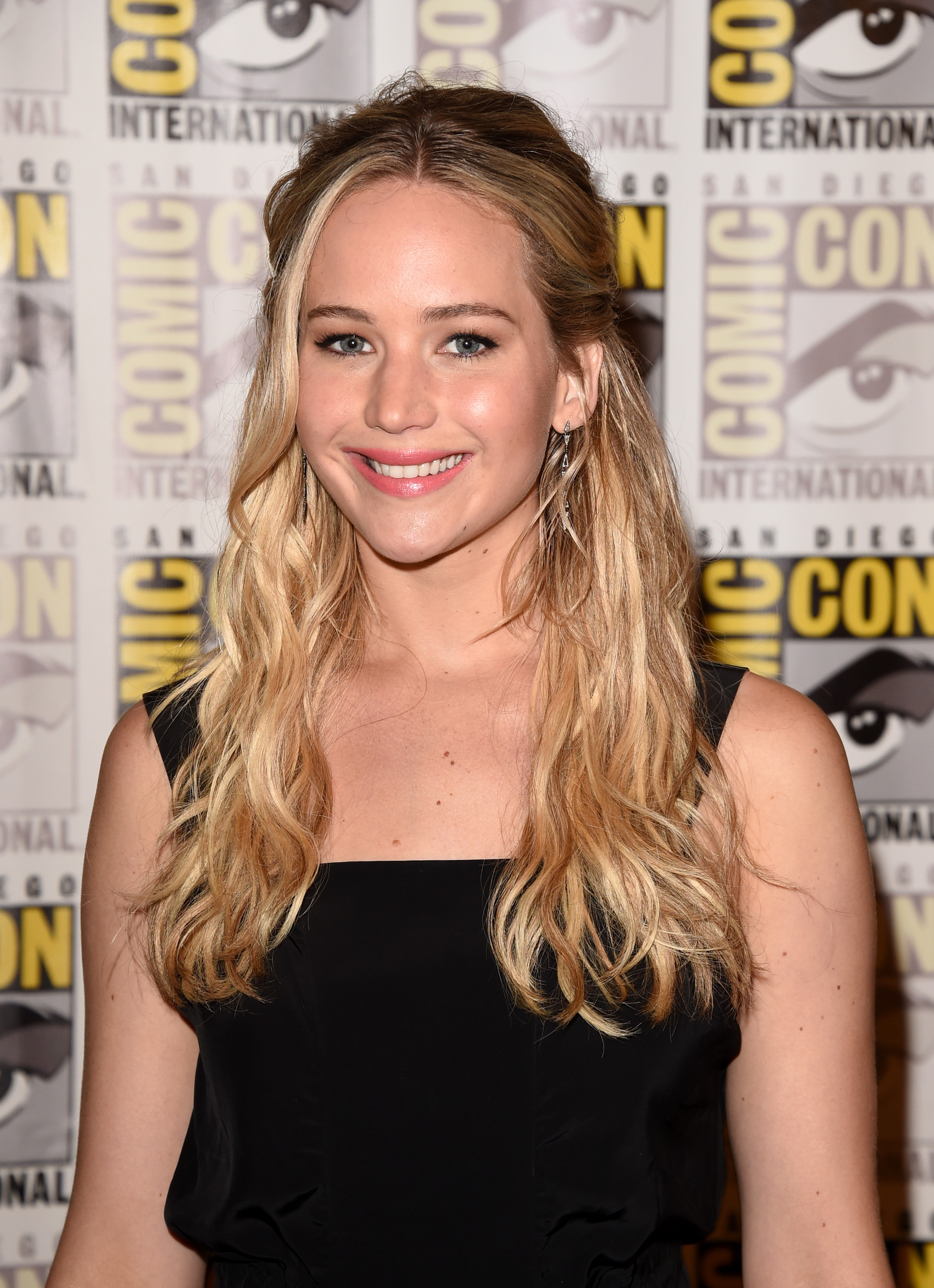Jennifer Lawrence during Comic-Con International 2015 at the Hilton Bayfront on Jul. 9, 2015 in San Diego, Calif.