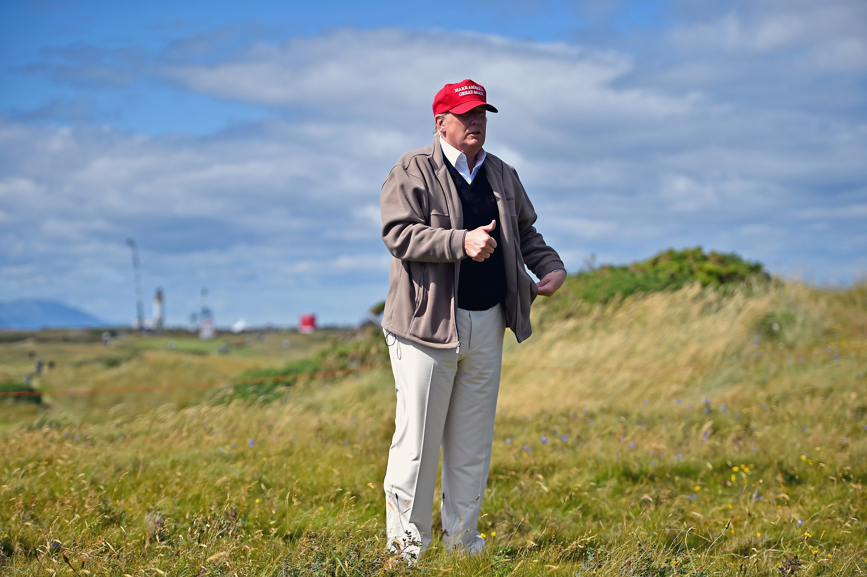 Donald Trump on July 30, 2015 in Ayr, Scotland.