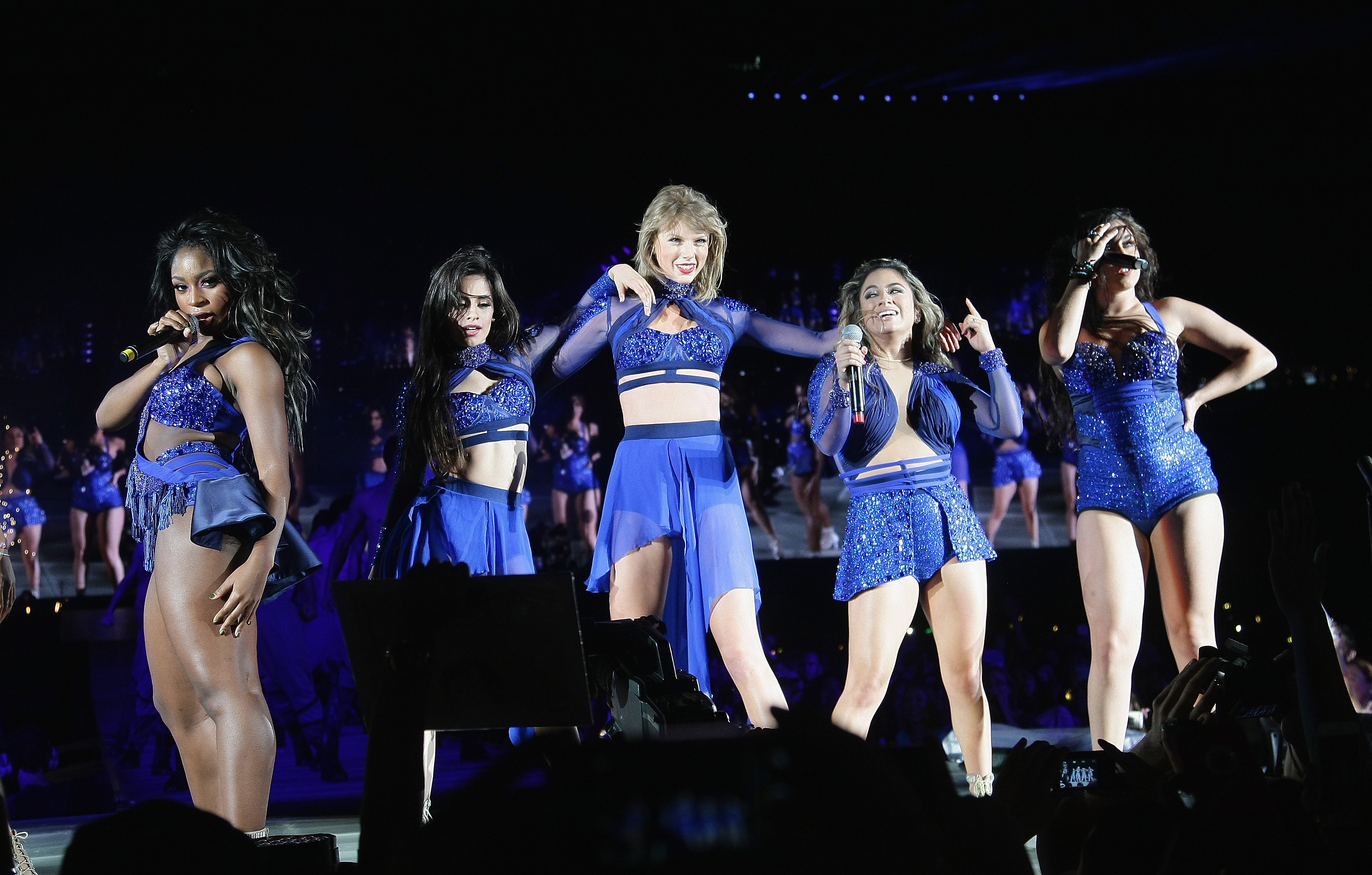 Taylor Swift and Fifth Harmony perform at Levi's Stadium in Santa Clara, Calif. on August 14, 2015.