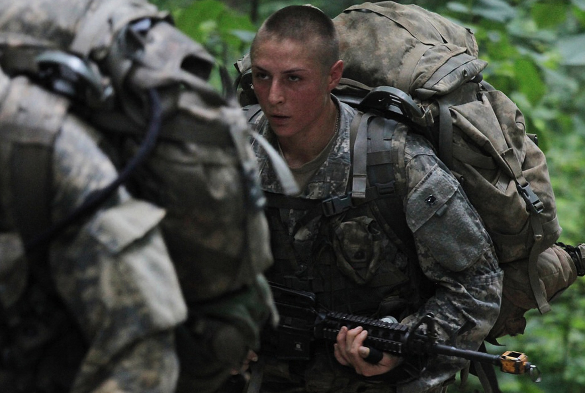 1st Lt. Shaye Haver training at the Ranger School last month.