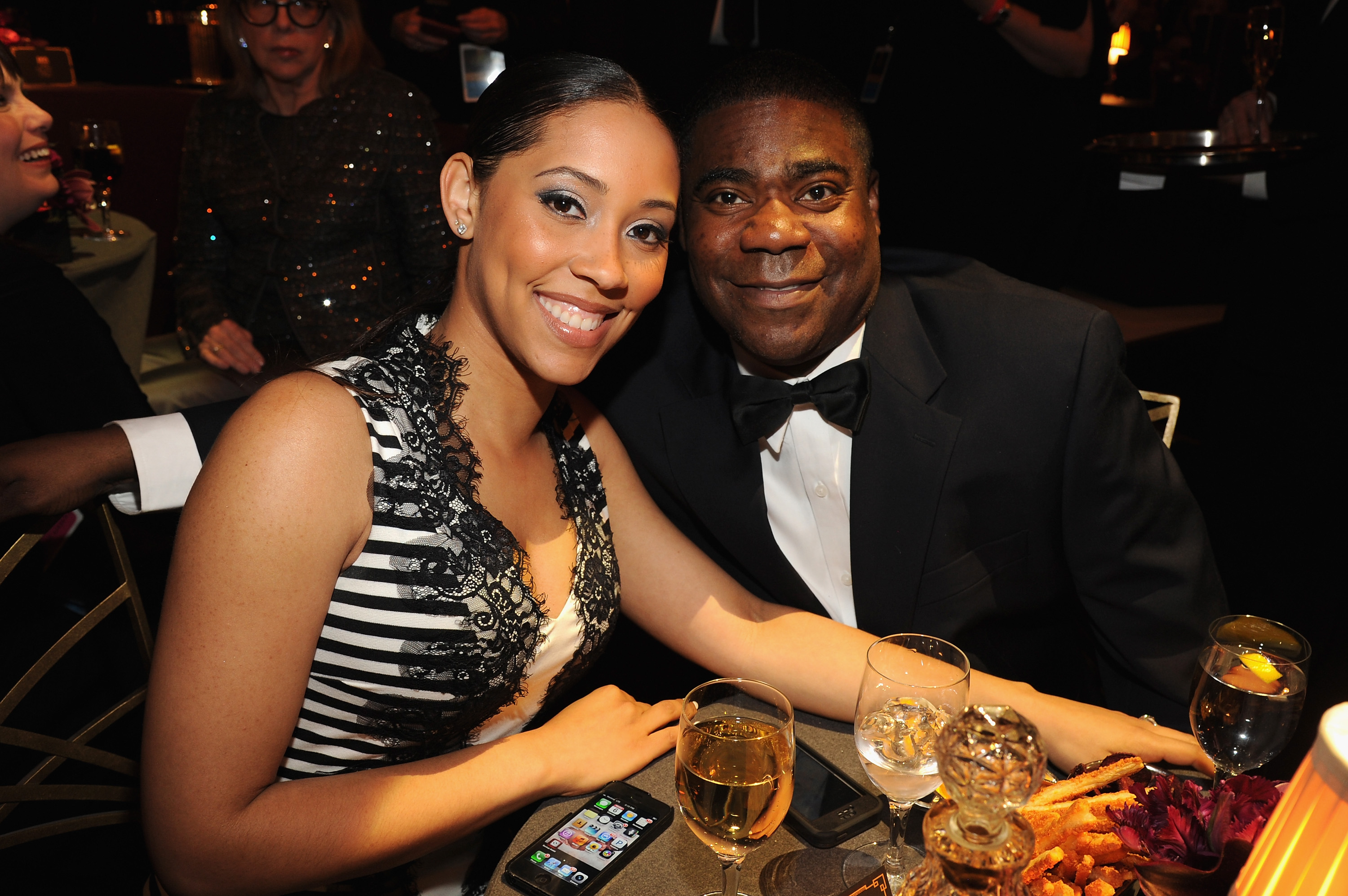 Meghan Wollover and Tracy Morgan attend Spike TV's  Don Rickles: One Night Only  on May 6, 2014 in New York City.