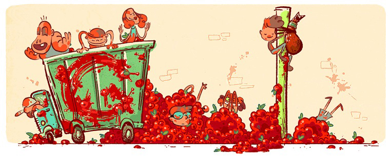 Aug. 26, 2015 For the 70th anniversary of La Tomatina.