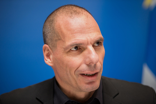 Yanis Varoufakis at a news conference following a Eurogroup meeting in Luxembourg on June 18, 2015.