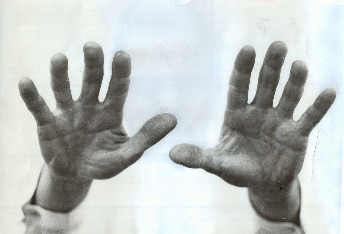 Hands, photographed in 1988
