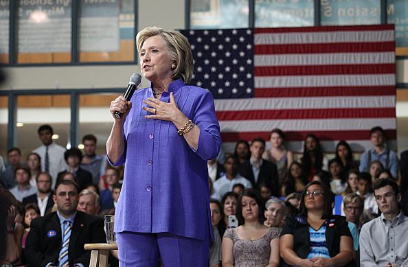 Hillary Clinton held a town meeting event at Exeter High School in Exeter, N.H. on Aug. 10, 2015.