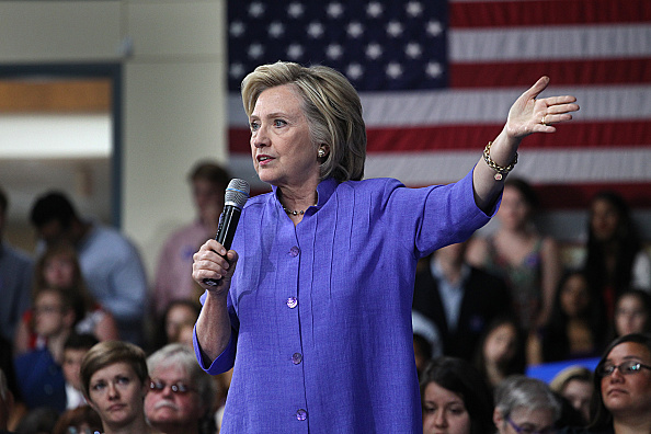 Former Secretary of State Hillary Clinton joked about an email investigation when speaking to Iowa Democrats, dismissing it as just  politics.