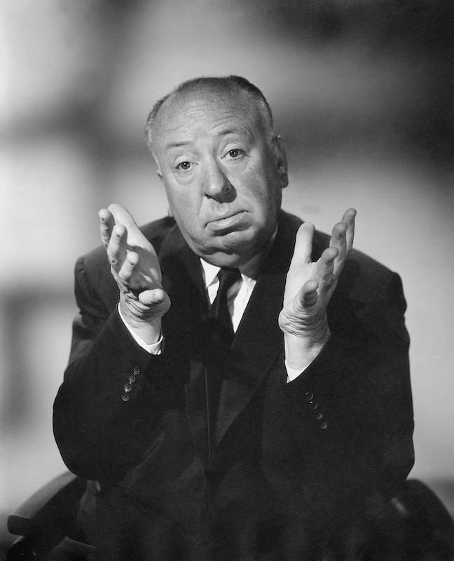 Alfred Hitchcock at a photo shoot ca. 1960s for 'Alfred Hitchcock Presents'
