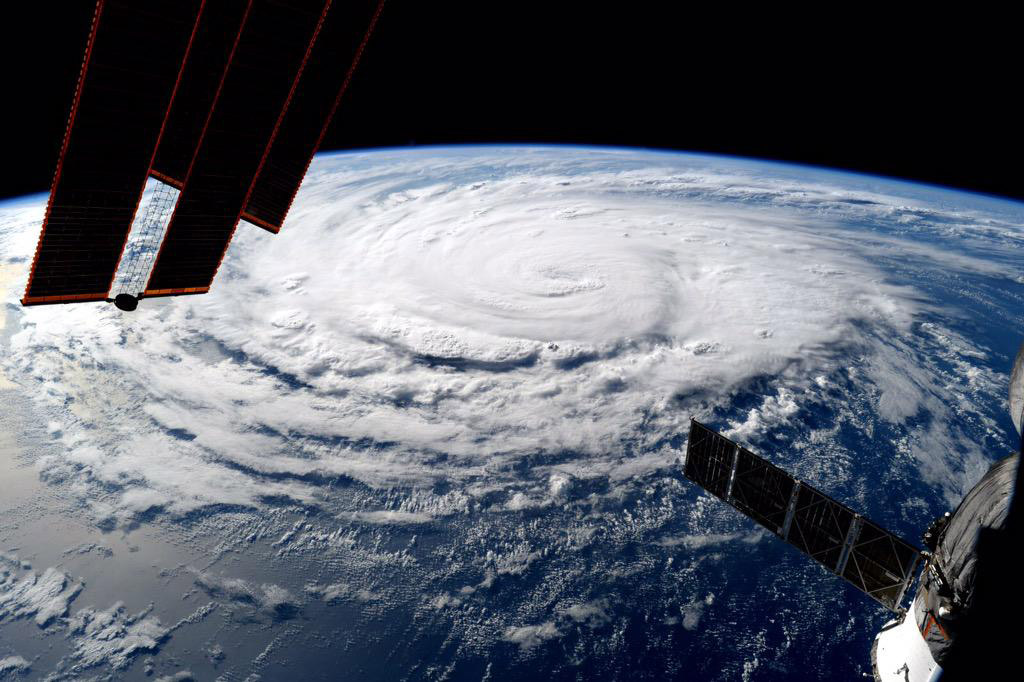 A view of hurricane Jimena taken from the International Space Station and posted to Twitter by NASA Astronaut Kjell Lindgren on Aug. 30, 2015.