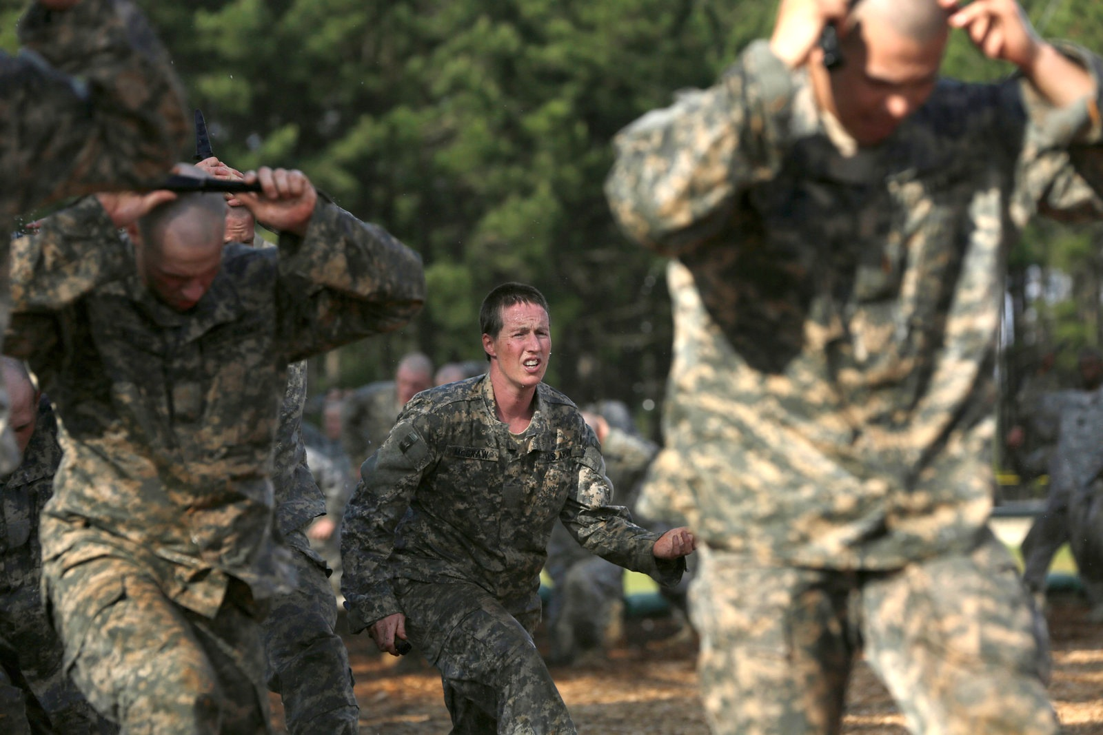 The Army's first co-ed Ranger course begins training.