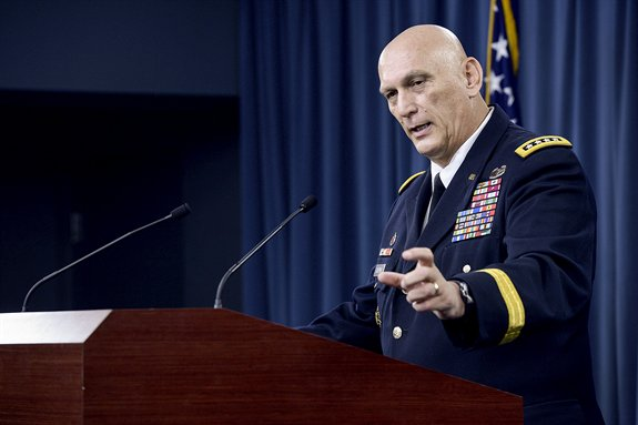 General Ray Odierno talks about Iraq at his farewell press conference.