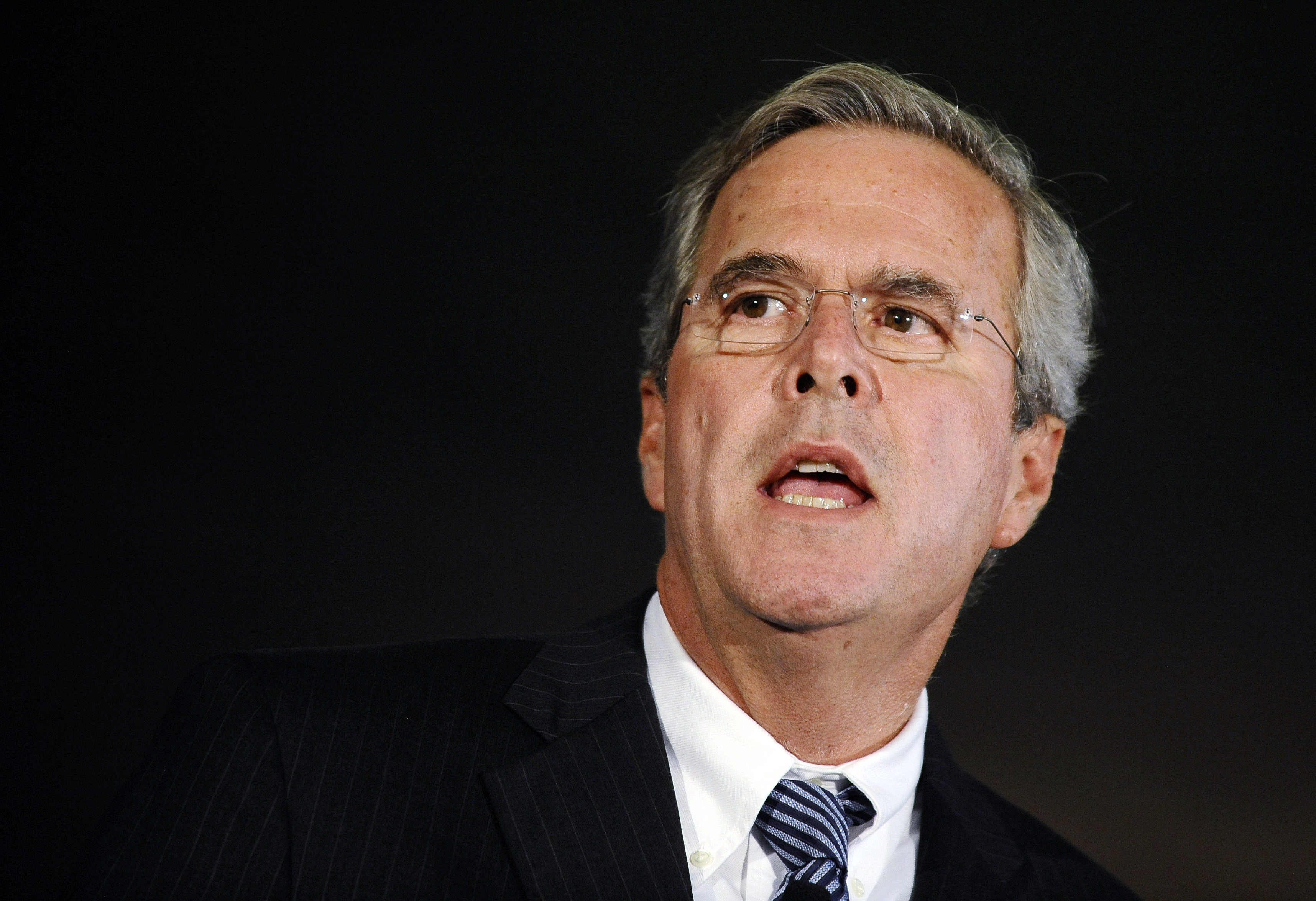 Republican presidential candidate former Fla. Gov. Jeb Bush speaks during a town hall meeting on Aug. 17, 2015, in Columbia, S.C.