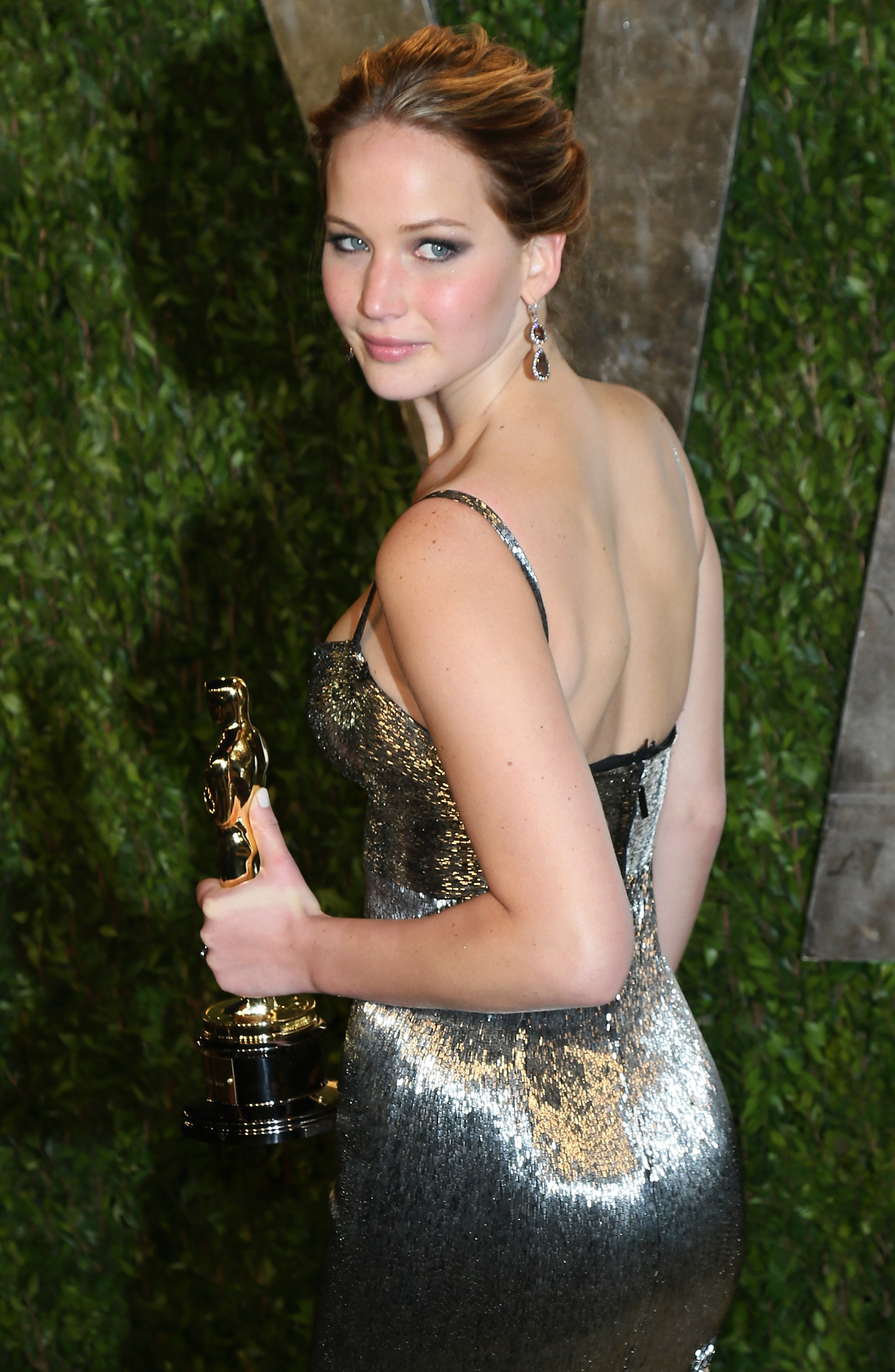Jennifer Lawrence attends the 2013 Vanity Fair Oscar Party on Feb. 24, 2013 in Los Angeles.