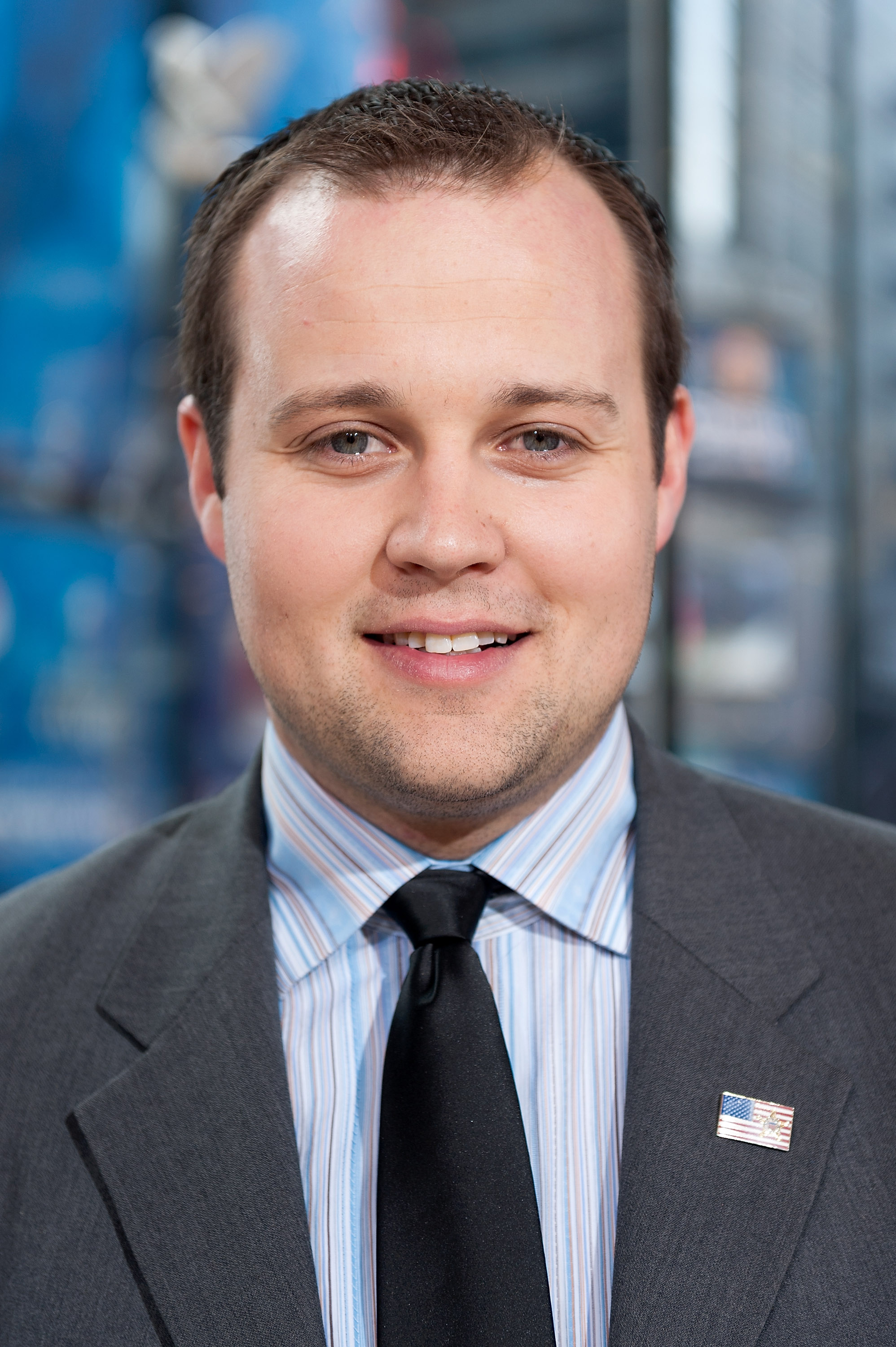 Josh Duggar visits  Extra  at their studios at H&M in Times Square on March 11, 2014 in New York City.