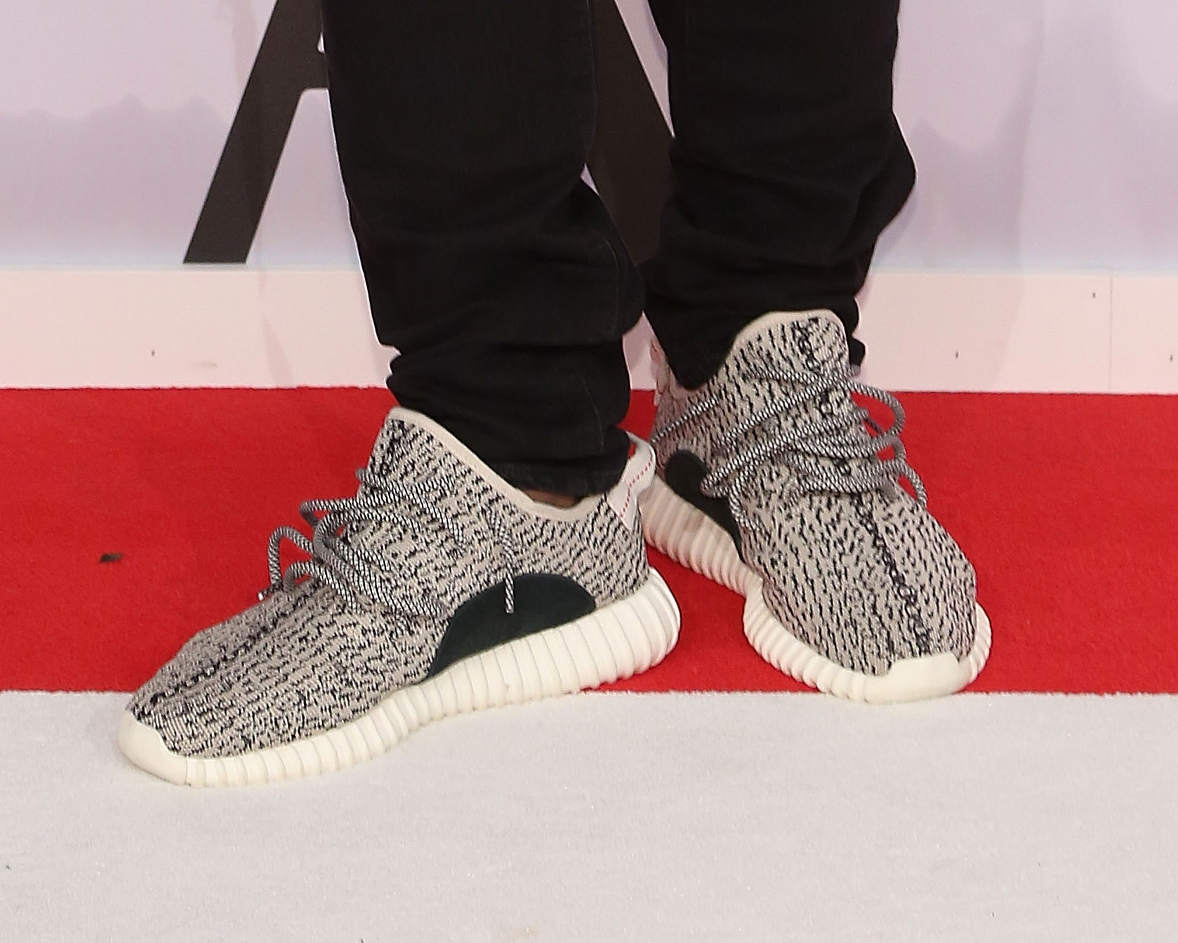 Kanye West's Yeezy Adidas shoes at the 2015 CFDA Awards at Alice Tully Hall at Lincoln Center on June 1, 2015 in New York City.