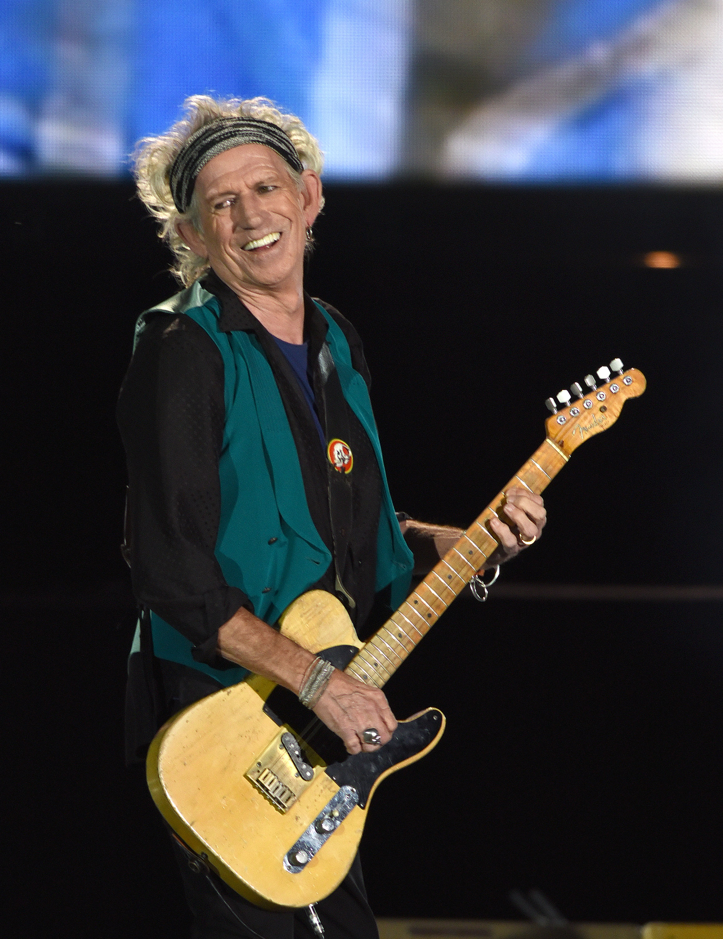 Keith Richards of The Rolling Stones performs during the Festival D'ete De Quebec on July 15, 2015 in Quebec City, Canada.