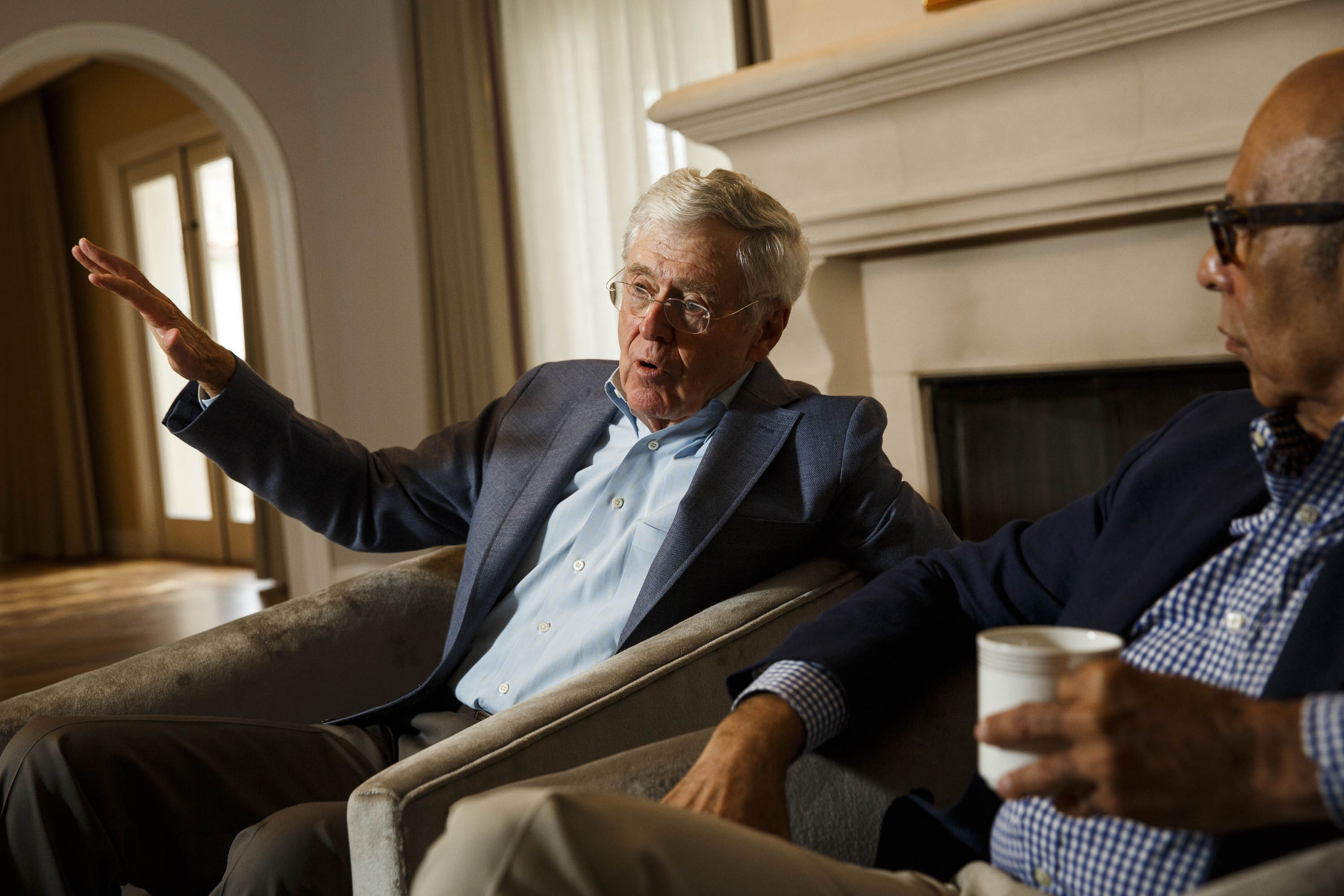 Charles Koch discusses his network's goals at a donor summit in California.