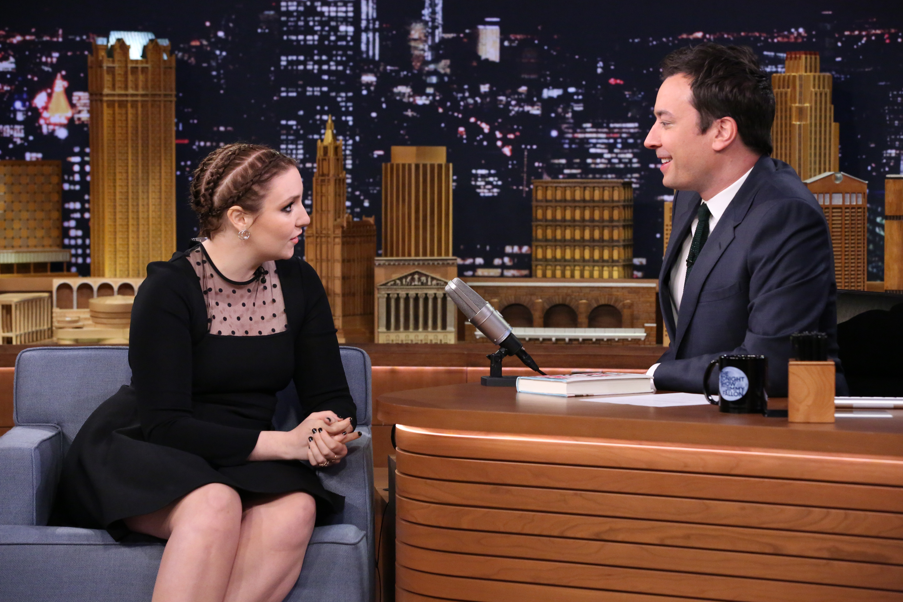 Lena Dunham Visits  The Tonight Show Starring Jimmy Fallon  in New York City on Jan. 8, 2015.