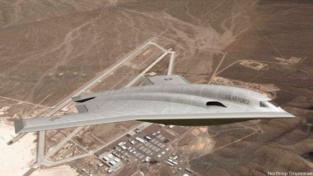 An artist's rendering of what the Long Range Strike Bomber might look like.
