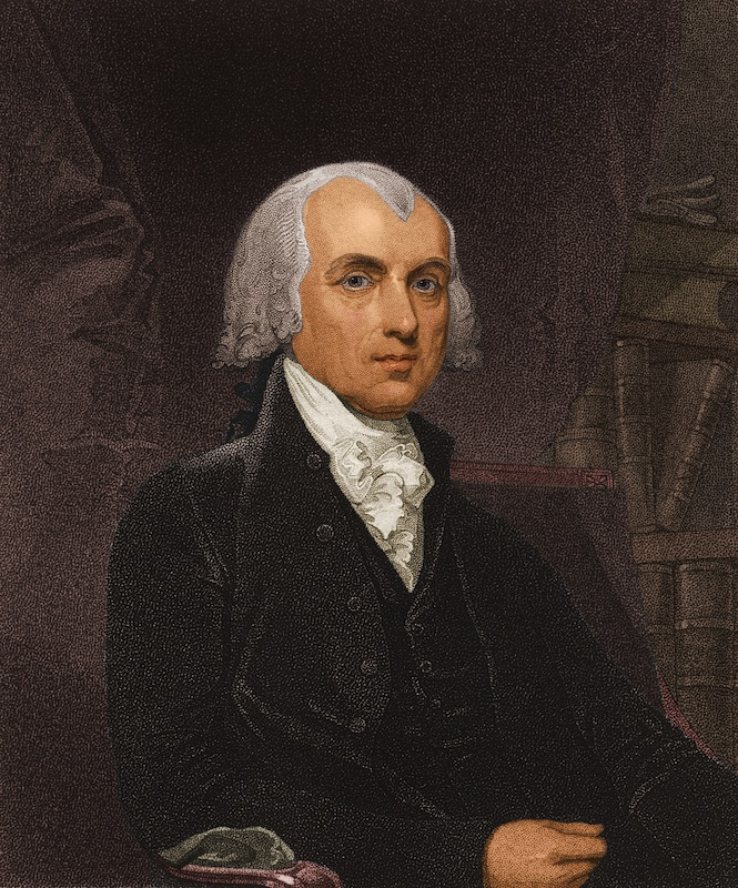 circa 1800:  James Madison (1751 - 1836), fourth president of the United States of America.