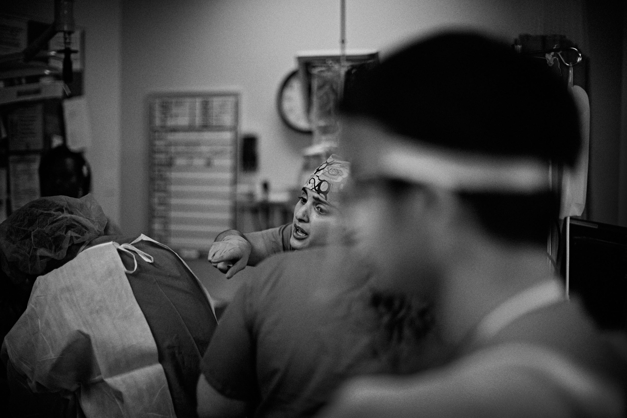 Dr. Salles in the emergency room stabilizing a patient who was brought in after being injured in a car accident. Santa Clara Valley Medical Center in San Jose, California. March 28, 2015.
