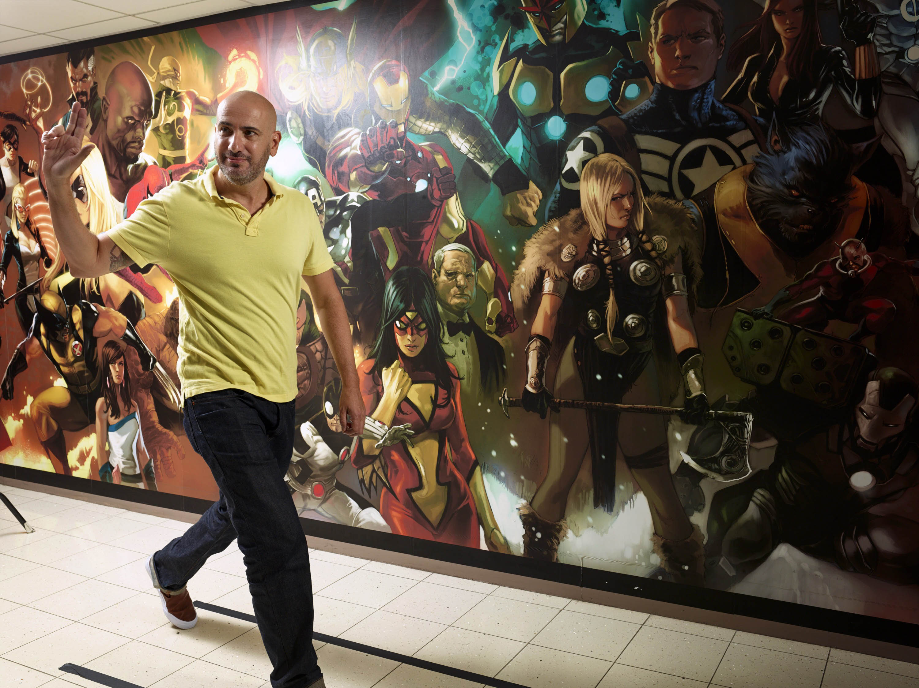 Marvel Comics editor in chief Axel Alonso at the publisher's New York City headquarters.