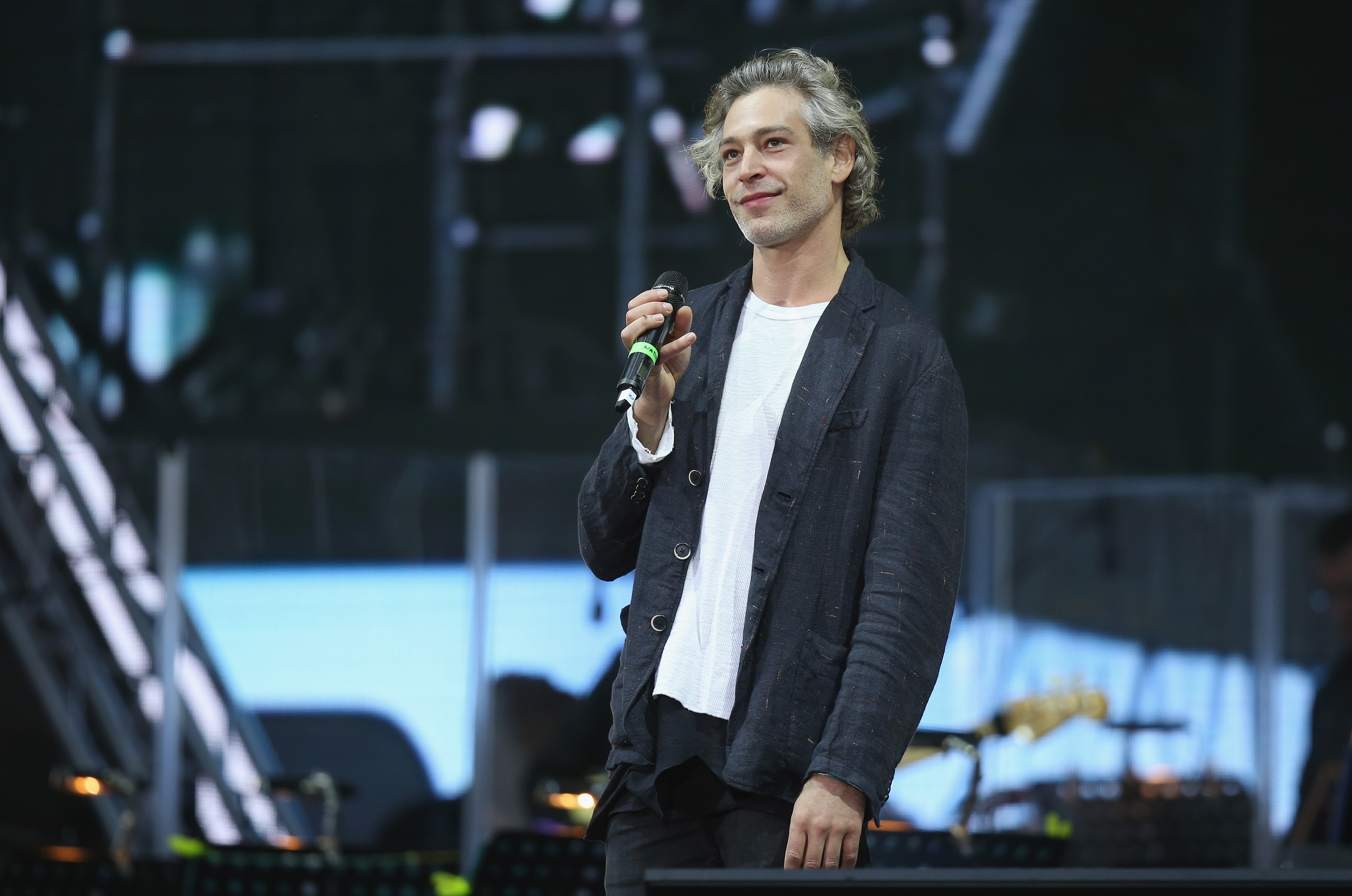 Singer Matisyahu performs at the official opening ceremony of the European Maccabi Games at the Waldbuehne in Berlin on July 28, 2015.