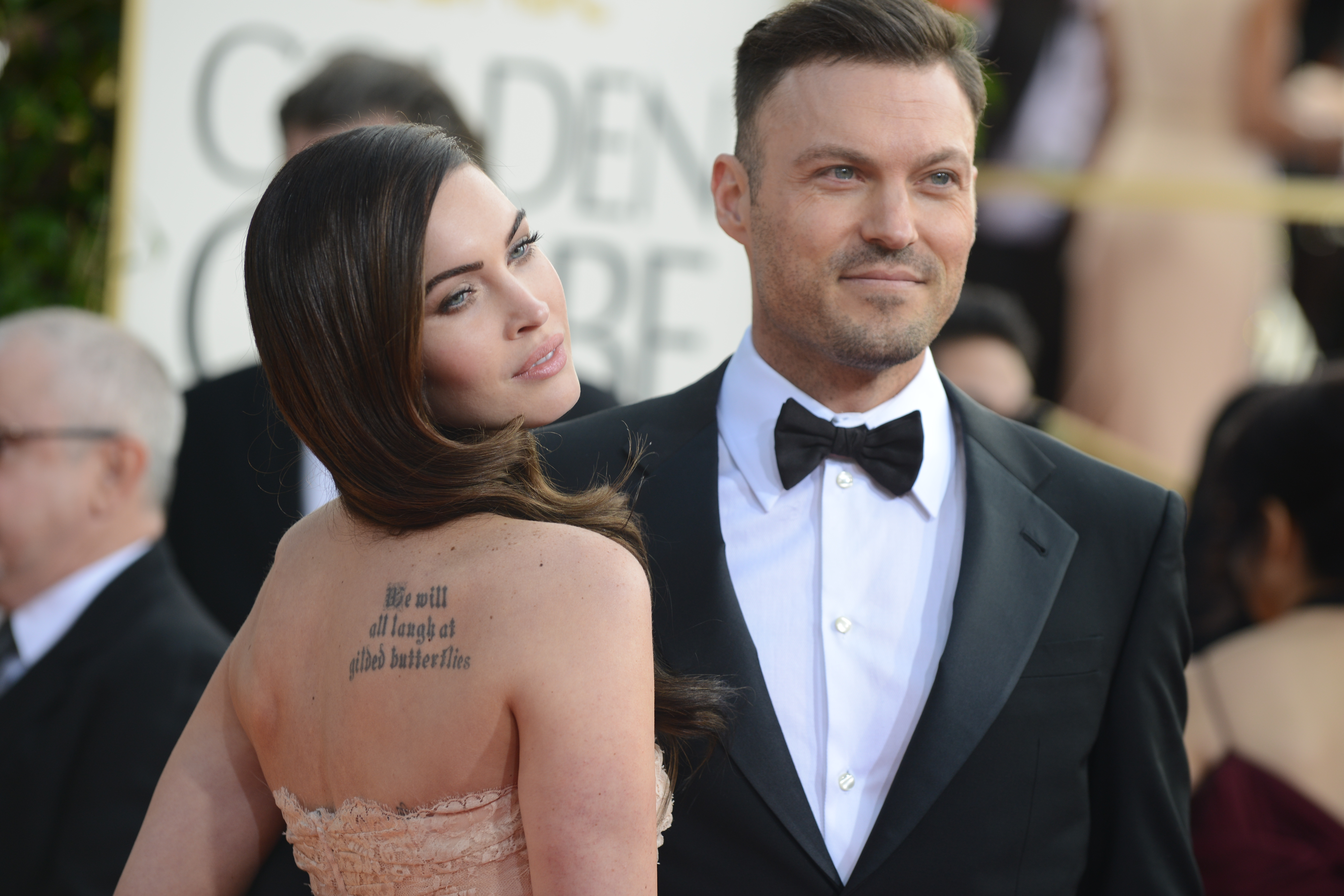 Megan Fox and Brian Austin Green at the 70th Annual Golden Globe Awards in Beverly Hills, Calif. on Jan. 13, 2013.