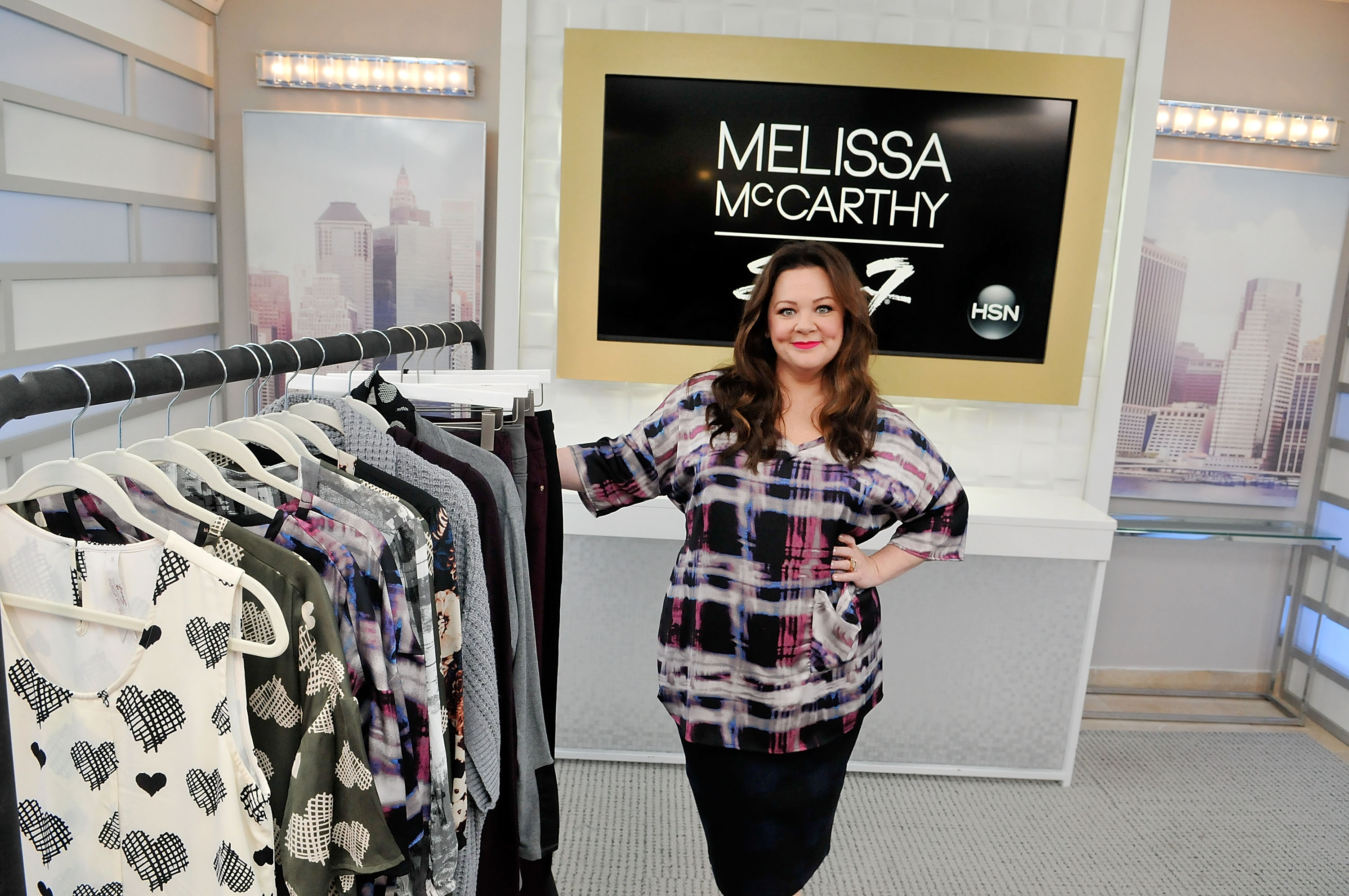 Melissa McCarthy debuts first fashion collectionat HSN Studios on August 13, 2015 in St Petersburg, Fla.