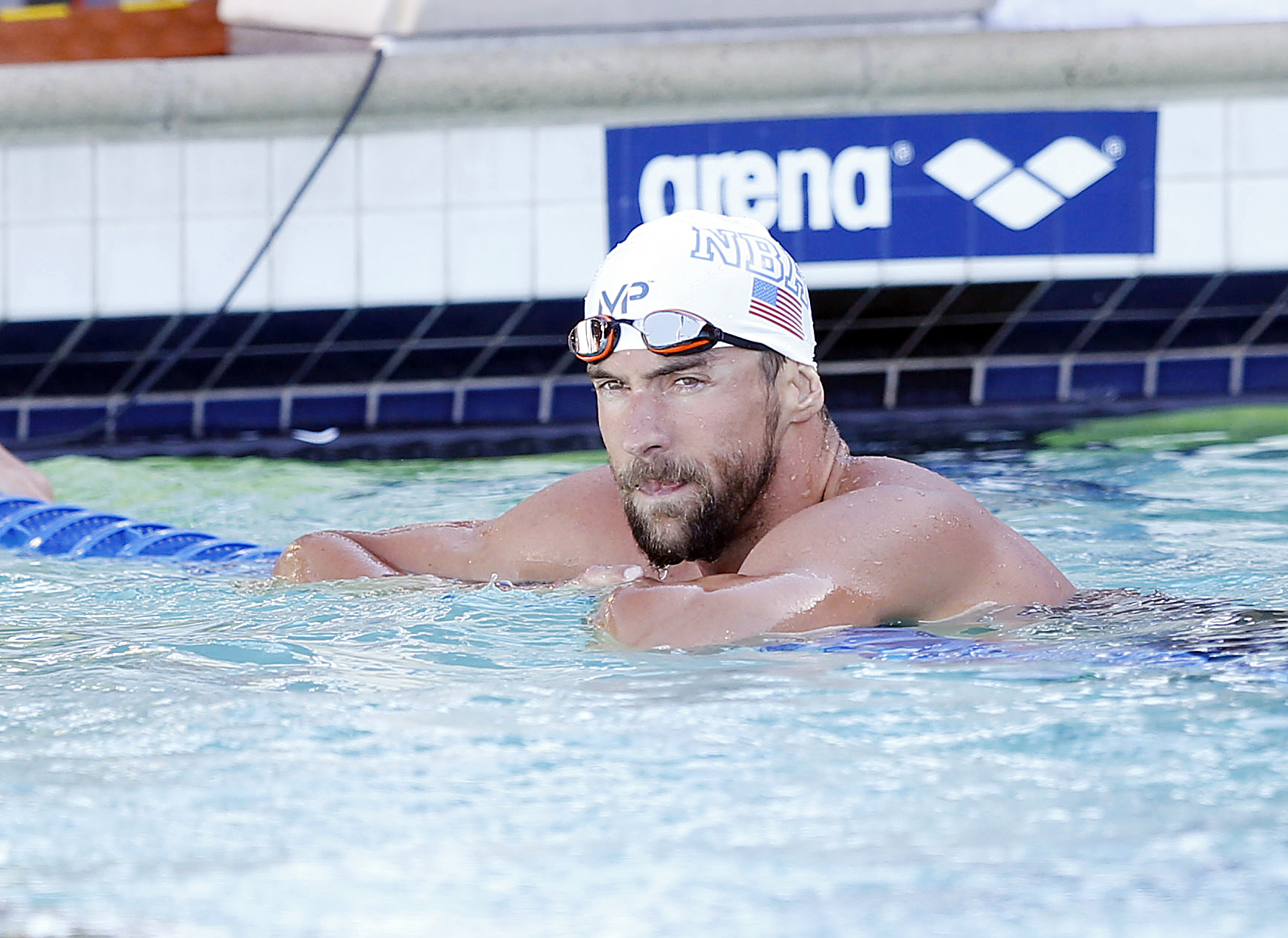Michael Phelps  won the Men's 200IM championship in a time of 1:59.39 during the Championship Finals of  at the George F. Haines International Swim Center, on Jun 21, 2015.