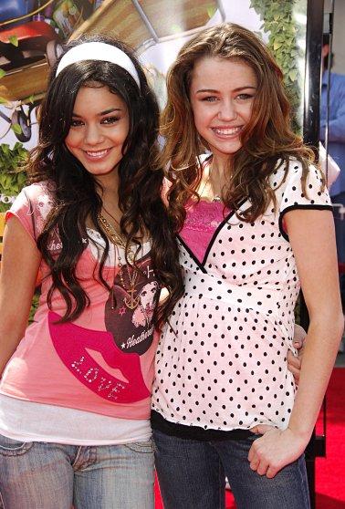 Miley Cyrus and Vanessa Hutchinson