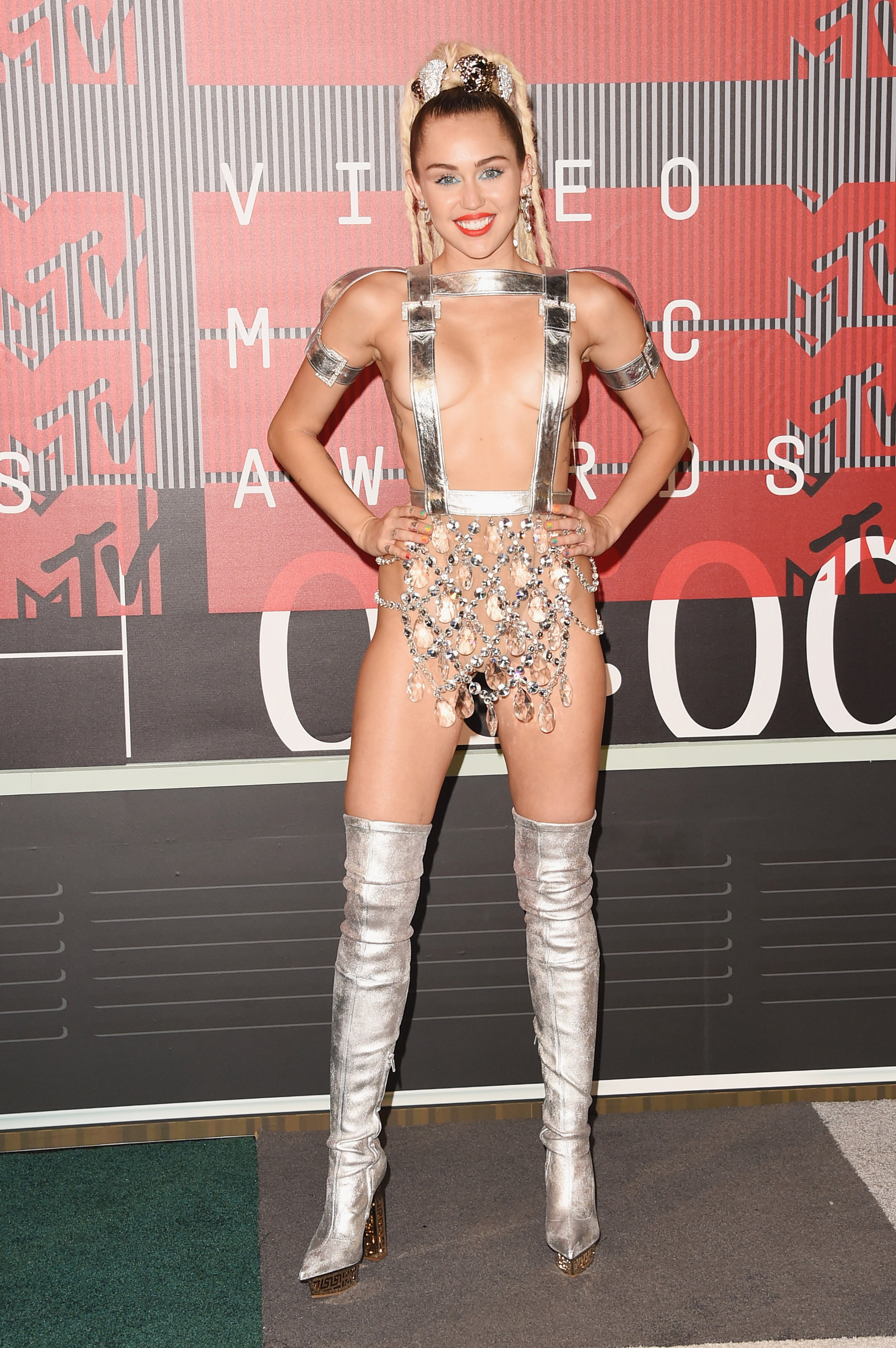 Miley Cyrus attends the 2015 MTV Video Music Awards at Microsoft Theater in Los Angeles on Aug. 30, 2015.