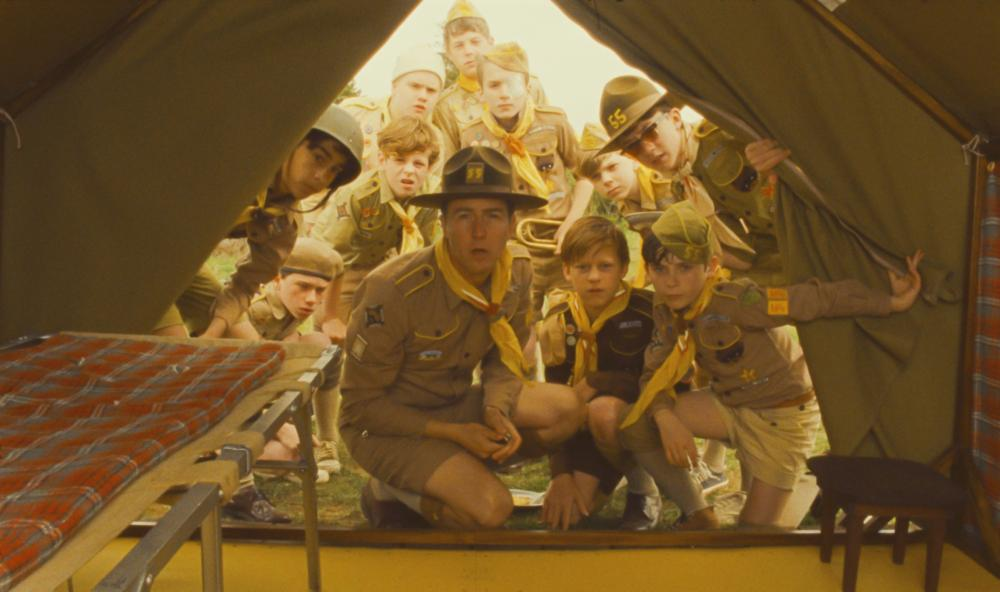 Edward Norton (C) and the cast in  Moonrise Kingdom.